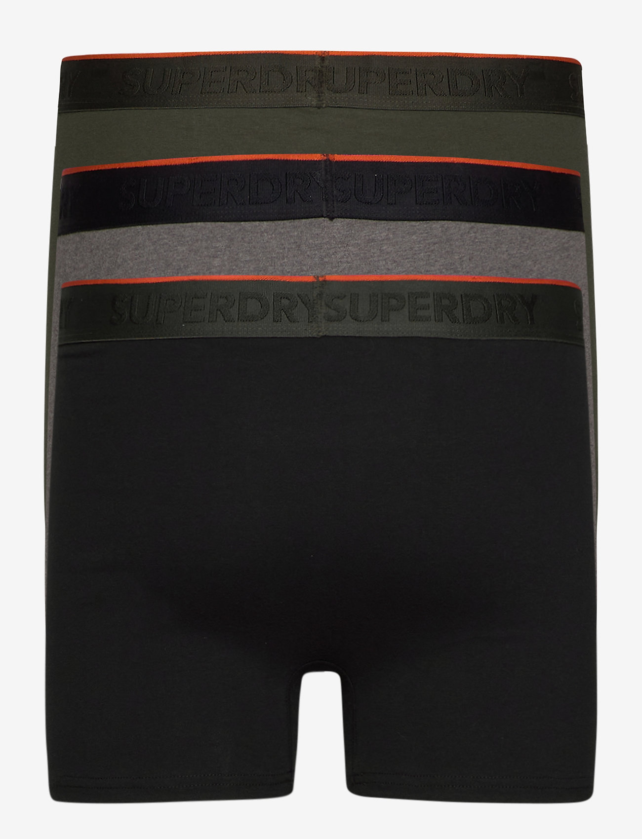 Superdry - CLASSIC BOXER TRIPLE - caleçon - black/darkest charcoal marl/dark green - 1