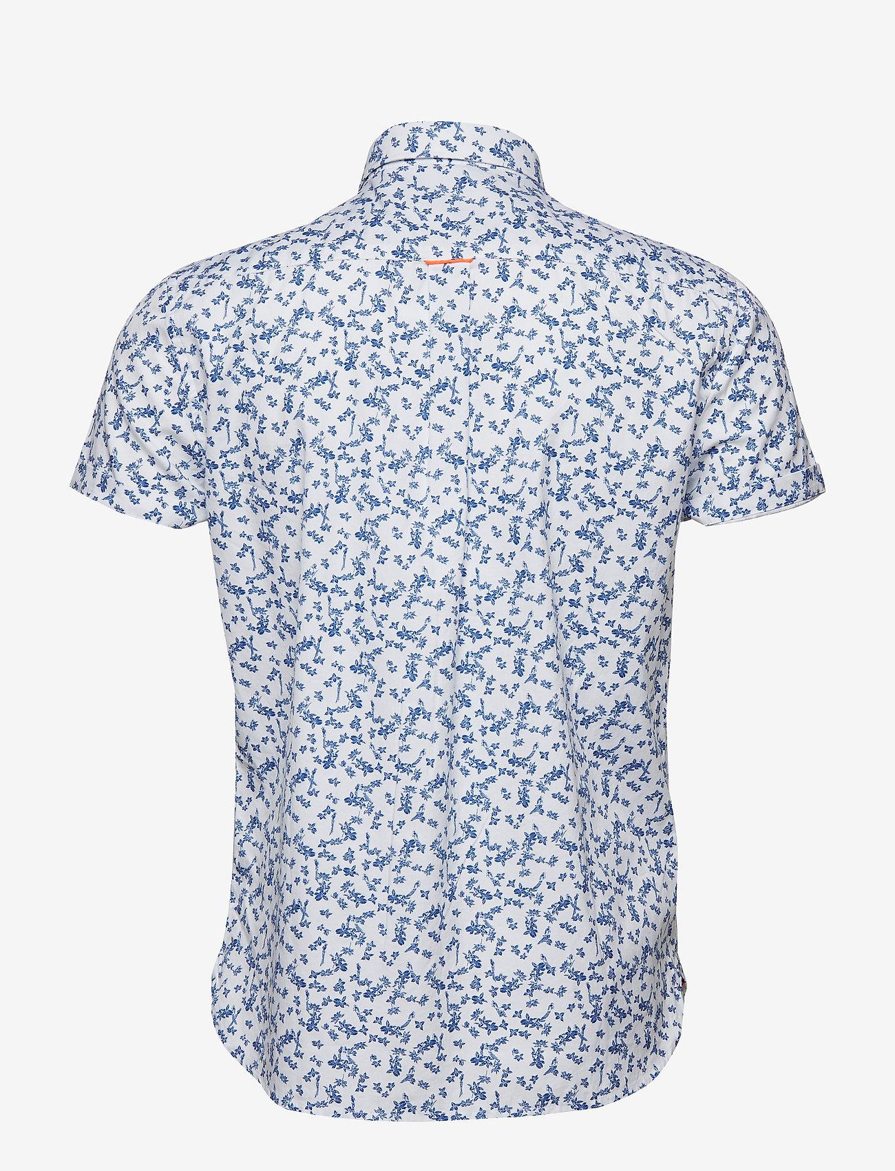 Superdry PREMIUM SHOREDITCH S/S SHIRT - Skjorter LOTUS FLOWER OPTIC - Menn Klær