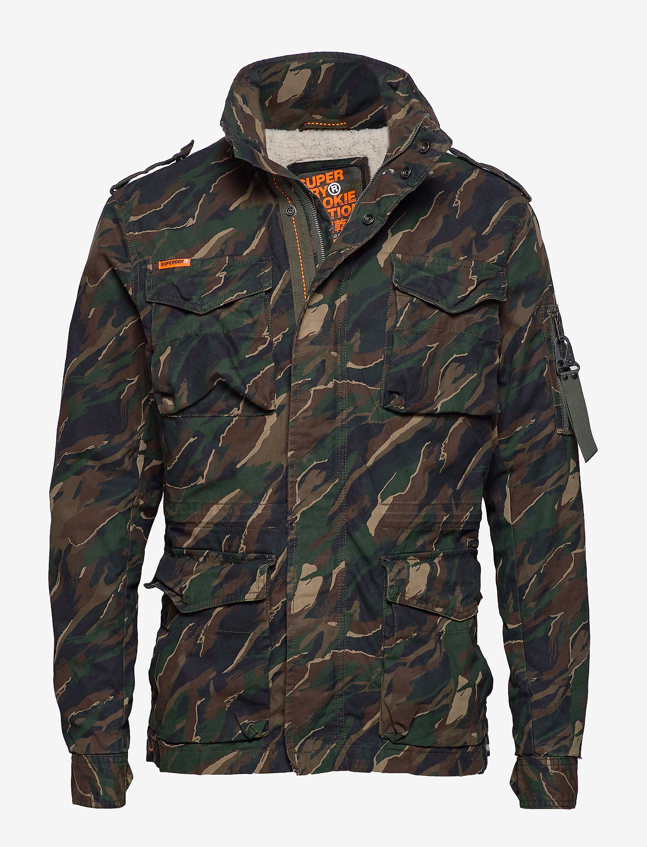 Superdry - CLASSIC ROOKIE 4 POCKET JACKET - light jackets - black kho - 0