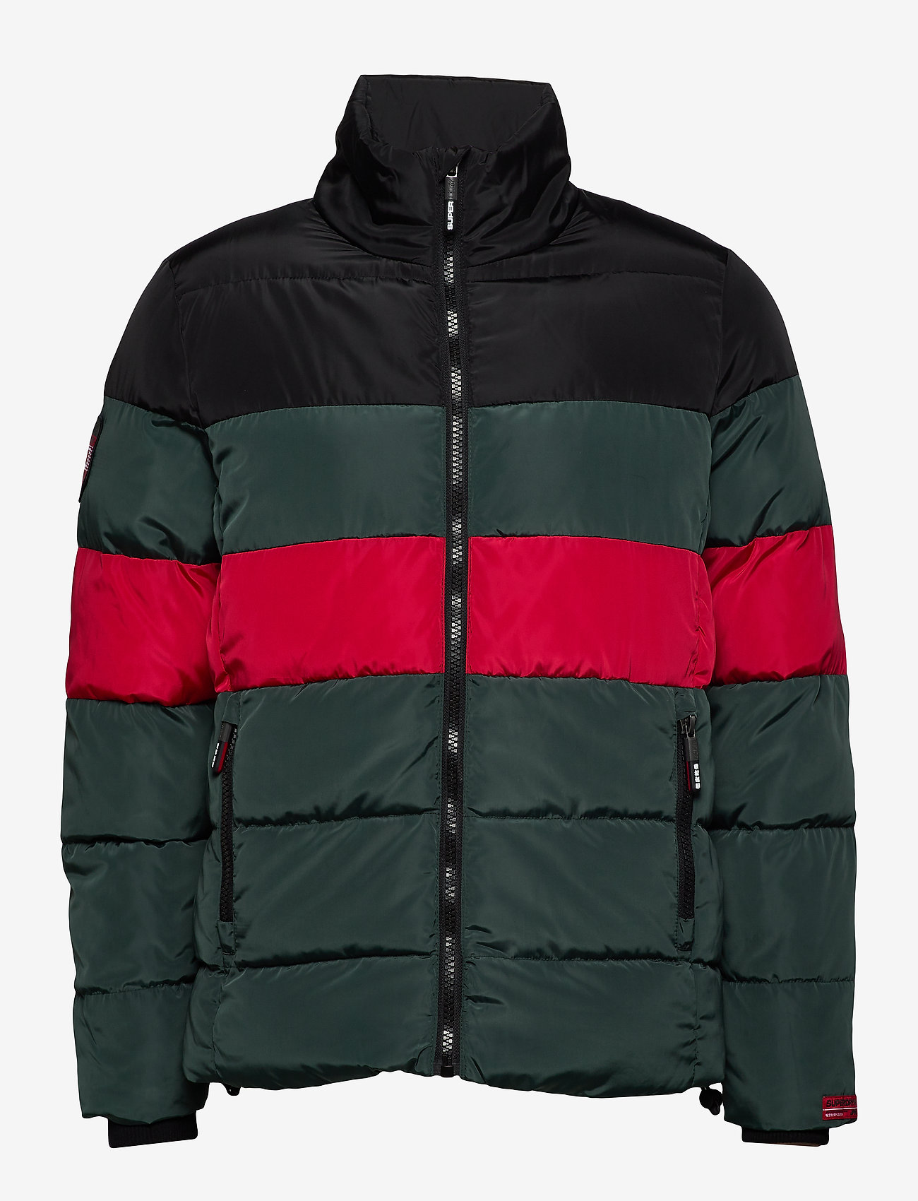 Colour Stripe Sports Puffer (Dark Forest) - Superdry dGwl5m