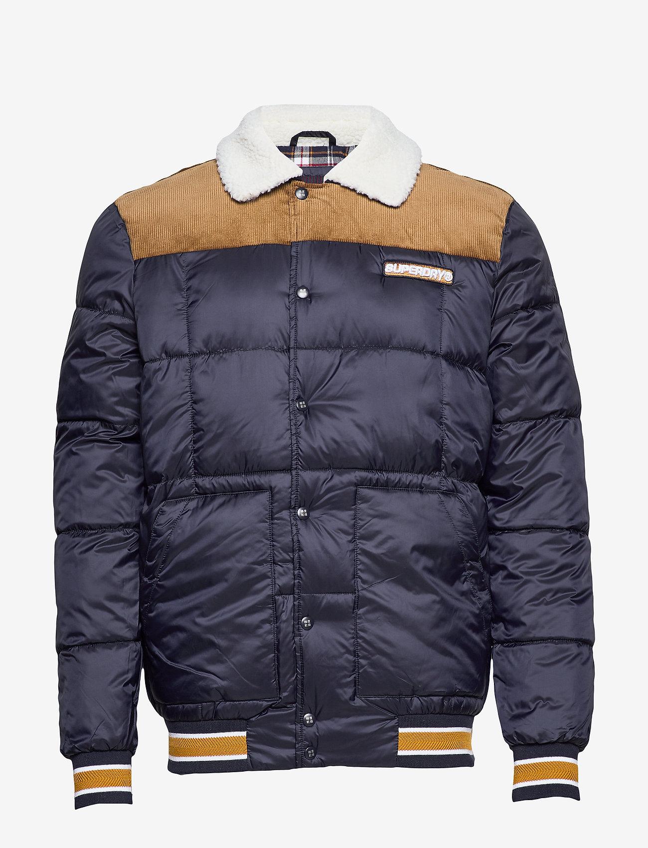 Superdry - DOWNHILL RACER BOX QUILT JKT - padded jackets - true navy - 1