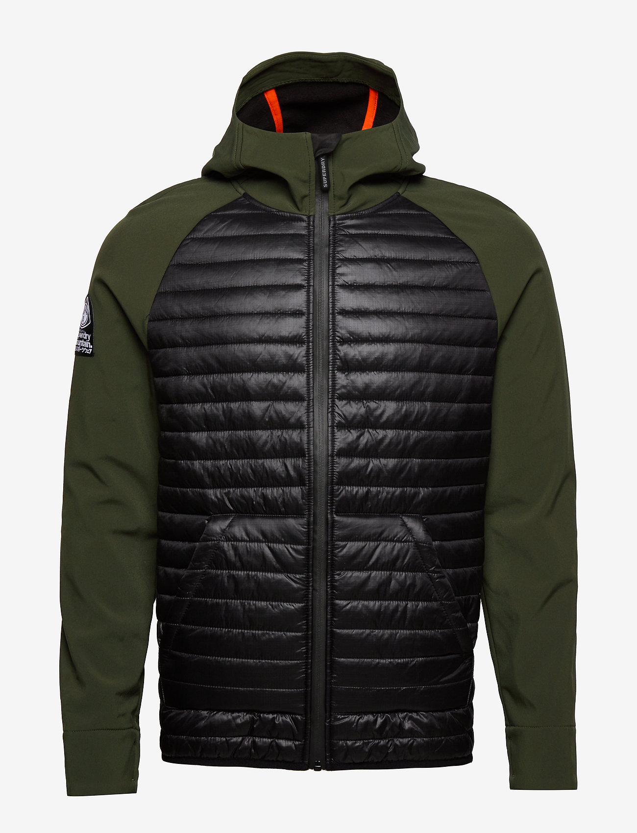 Mountaineer Softshell Hybrid (Dark Olive/black) - Superdry 1oRhpP