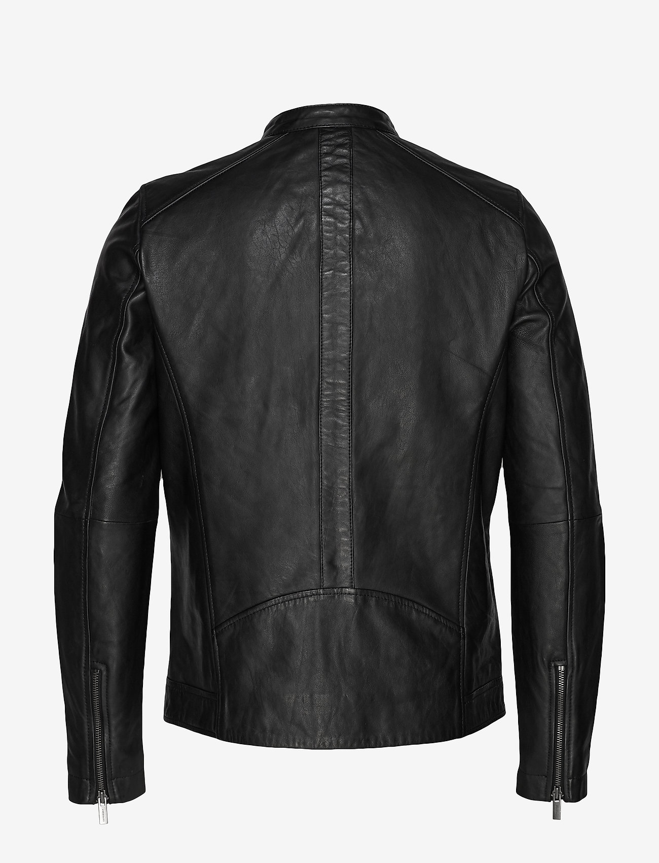 Superdry - LIGHTWEIGHT LEATHER RACER - lederjacken - black - 1