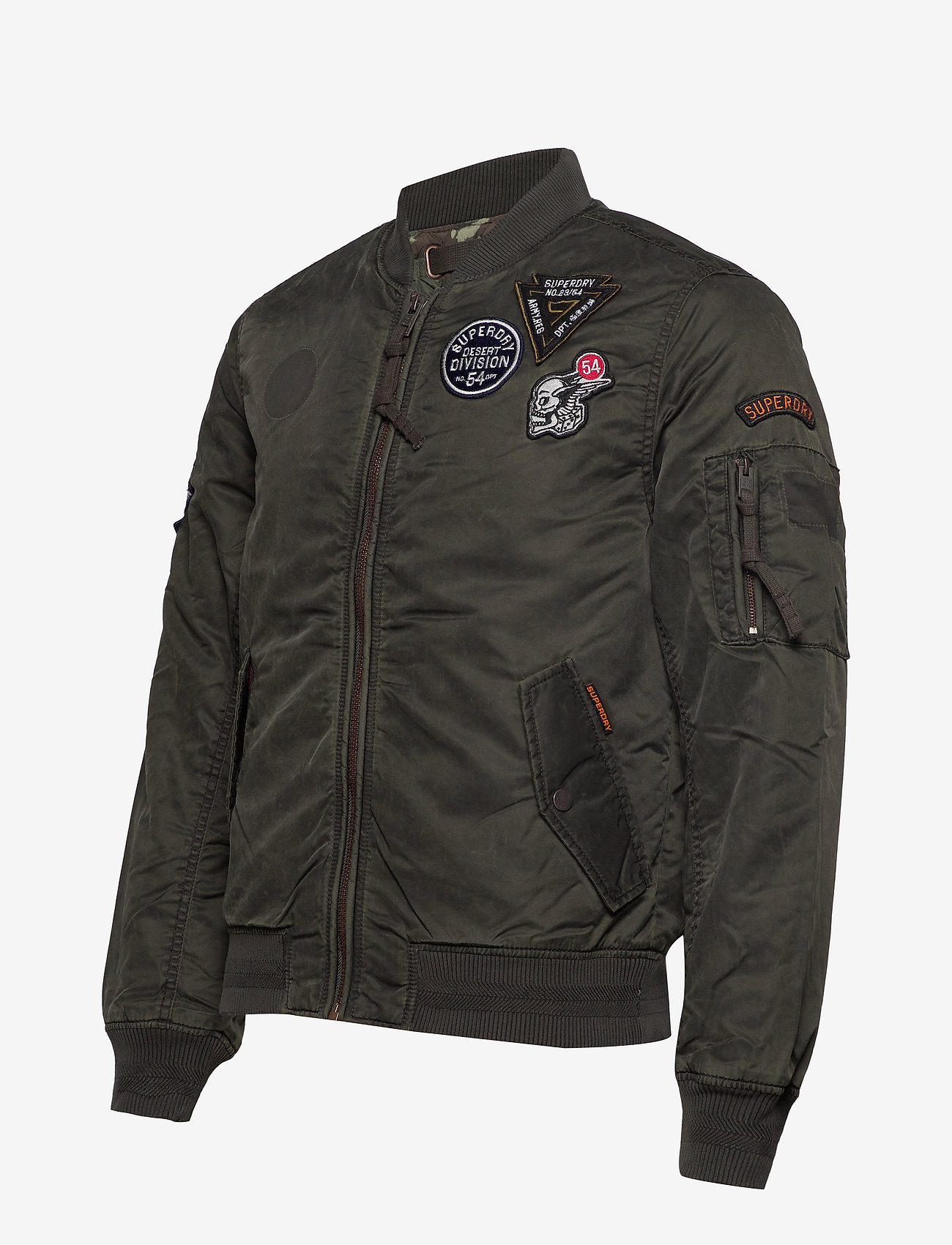 Superdry LIMITED ISSUE FLIGHT BOMBER - Jakker og frakker WASHED KHAKI - Menn Klær