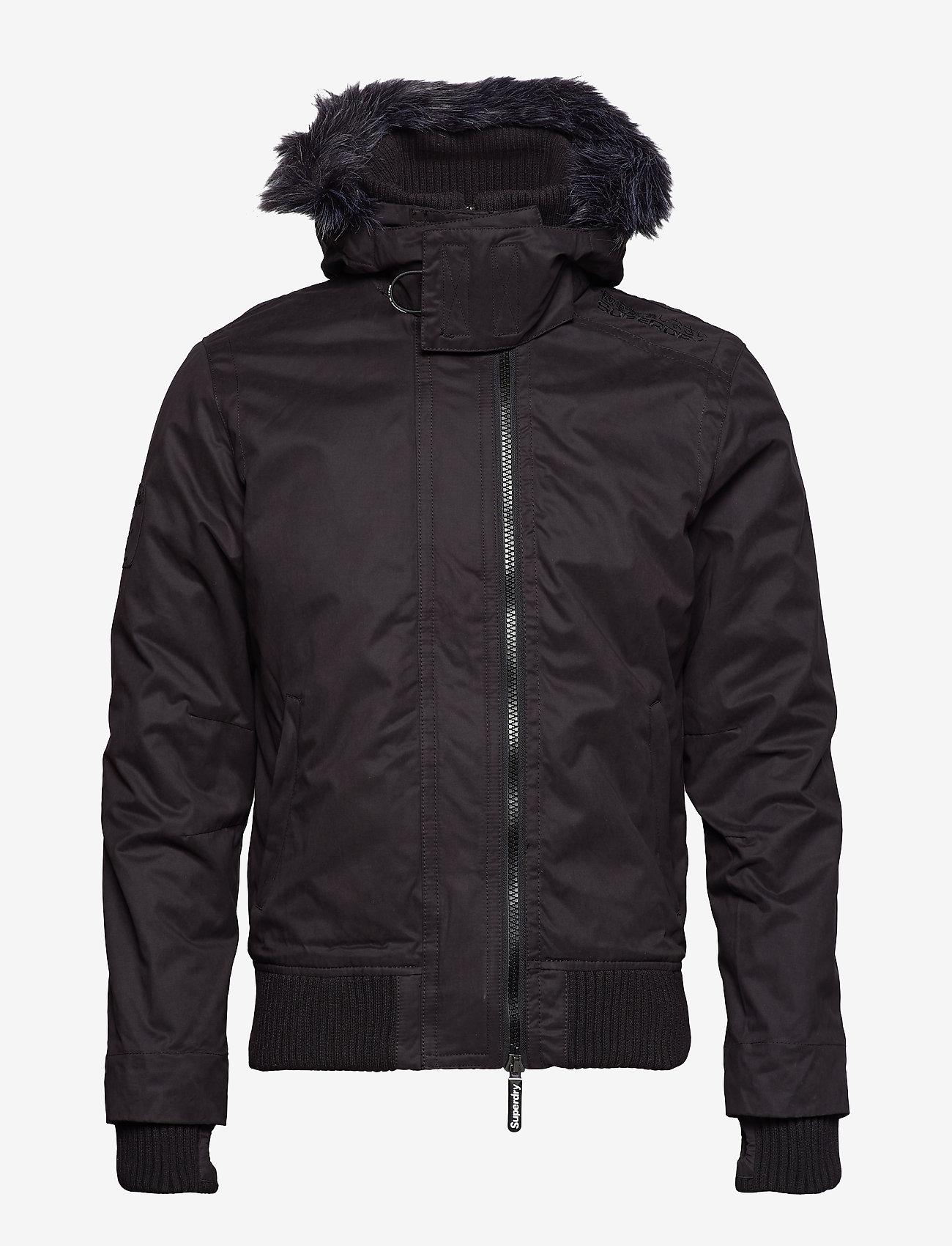 Superdry Microfibre Fur Hood Windbomber - Jackets & Coats