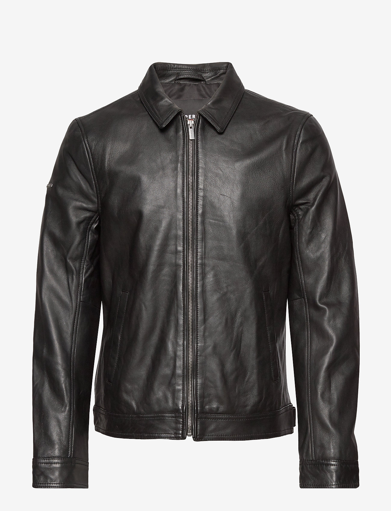 Superdry - CURTIS LIGHT LEATHER JACKET - nahkatakit - black - 0