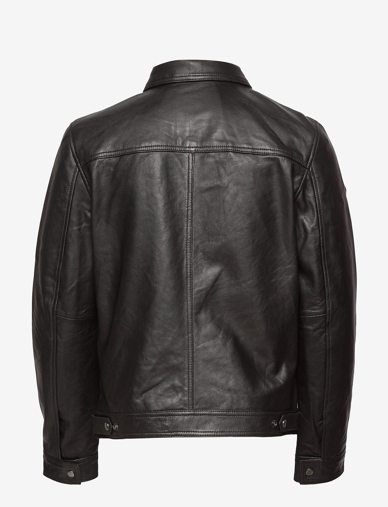Superdry - CURTIS LIGHT LEATHER JACKET - nahkatakit - black - 1
