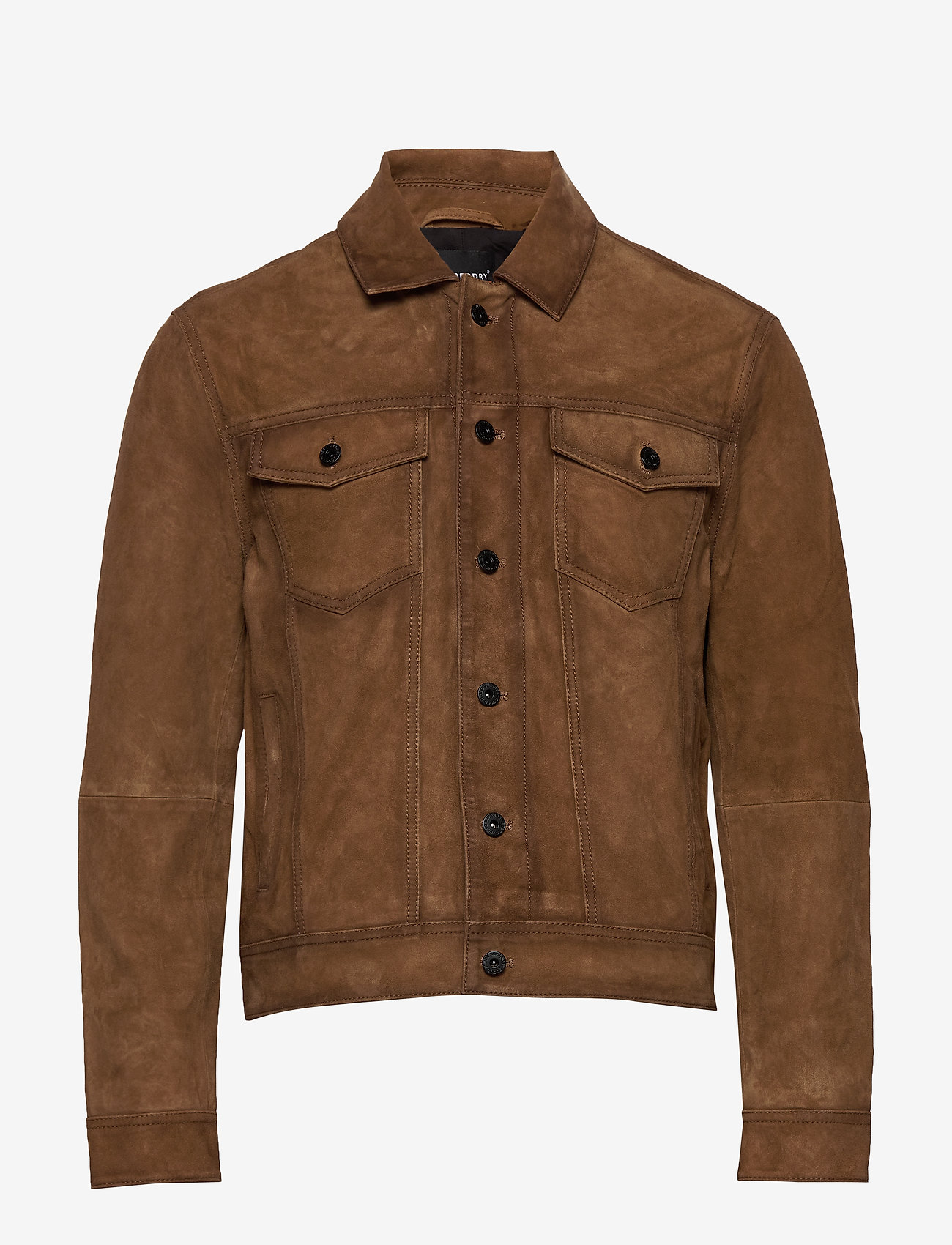 Superdry - Suede Highwayman Trucker - nahkatakit - burnt brown - 0