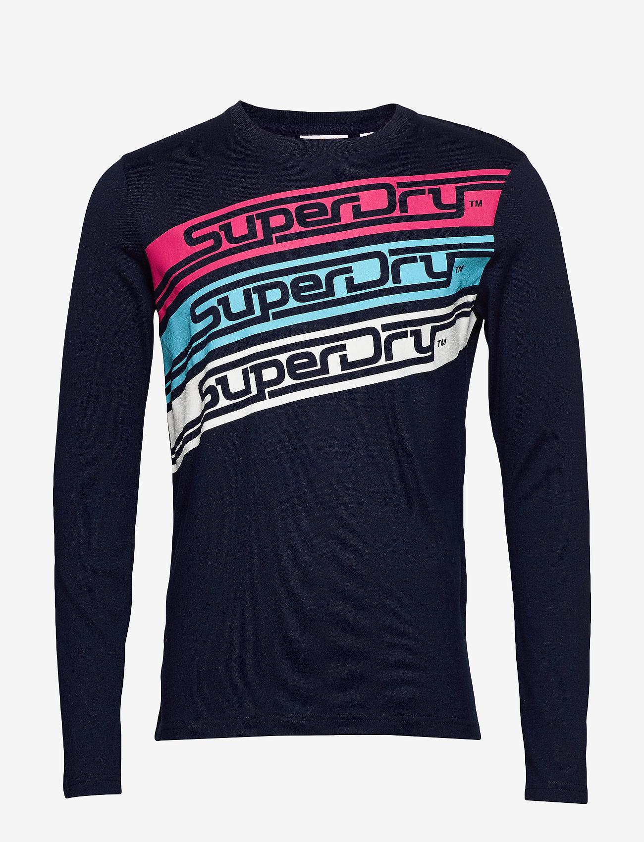 Superdry Mens Downhill Racer Ls Tee Long Sleeve Top