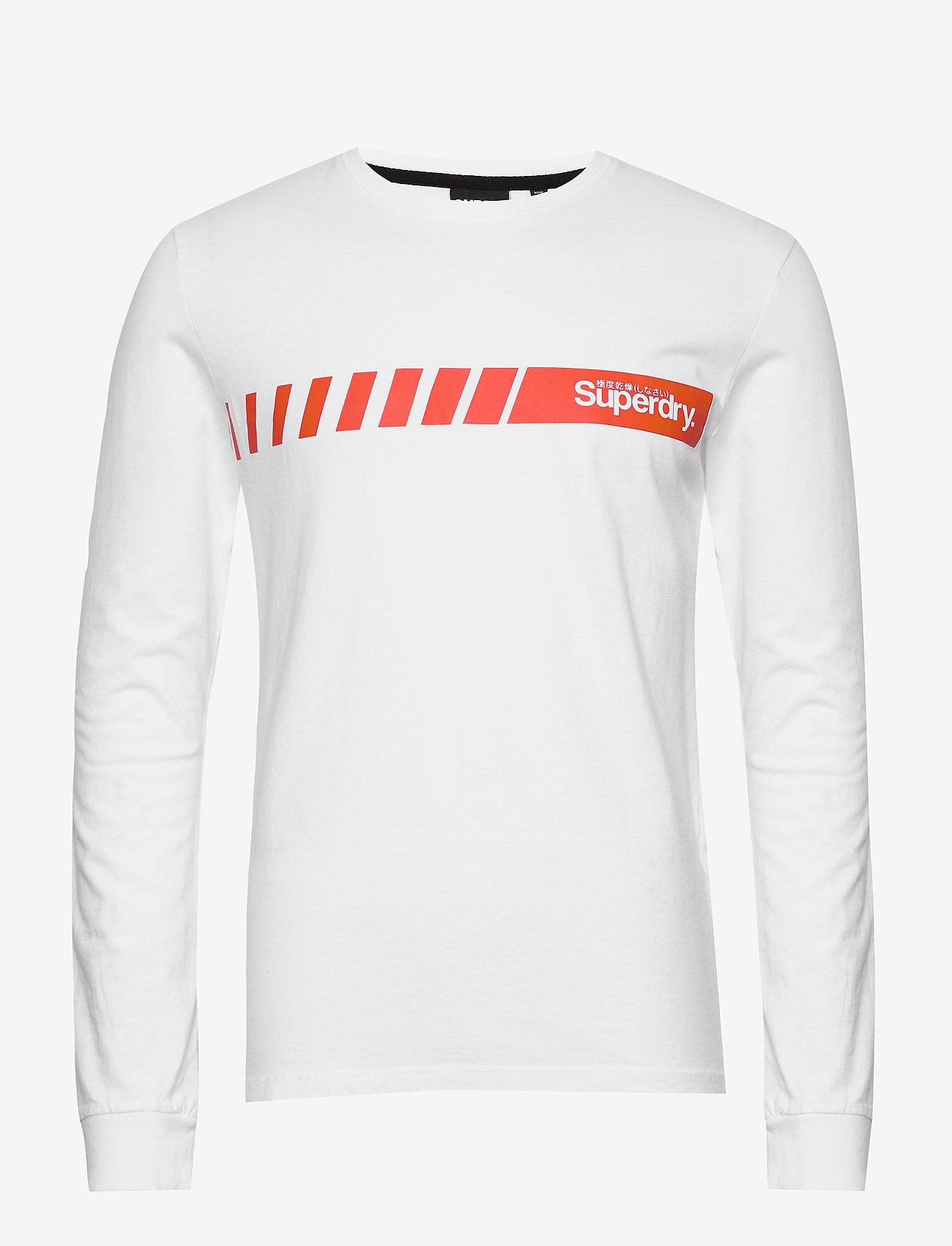 Superdry - Core Logo Sport Stripe Top - pitkähihaiset - optic
