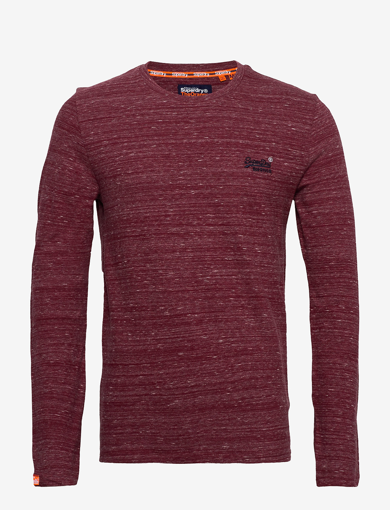 Superdry - Ol Vintage Emb Ls Top - perus t-paidat - brick red space dye