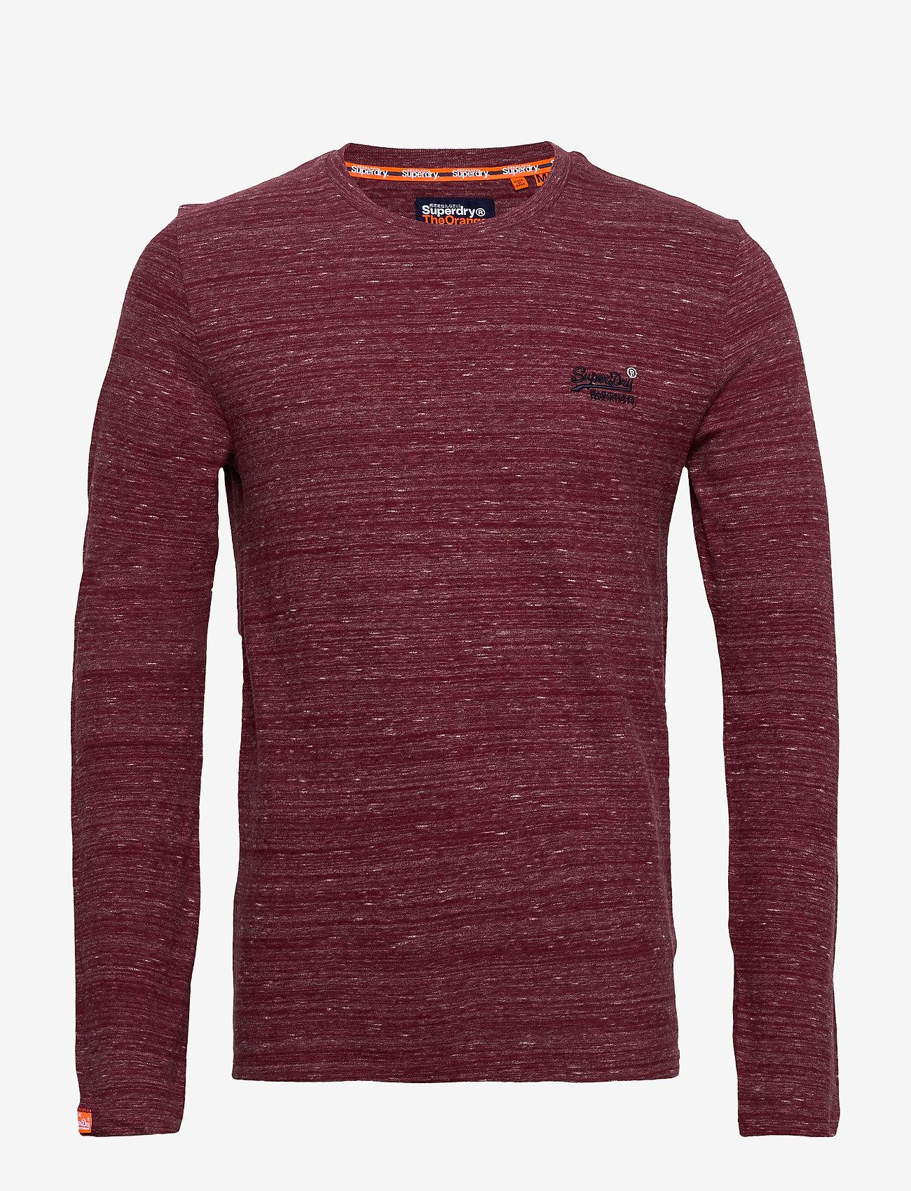 Superdry Ol Vintage Emb Ls Top - T-shirts BRICK RED SPACE DYE H0ueLyLw