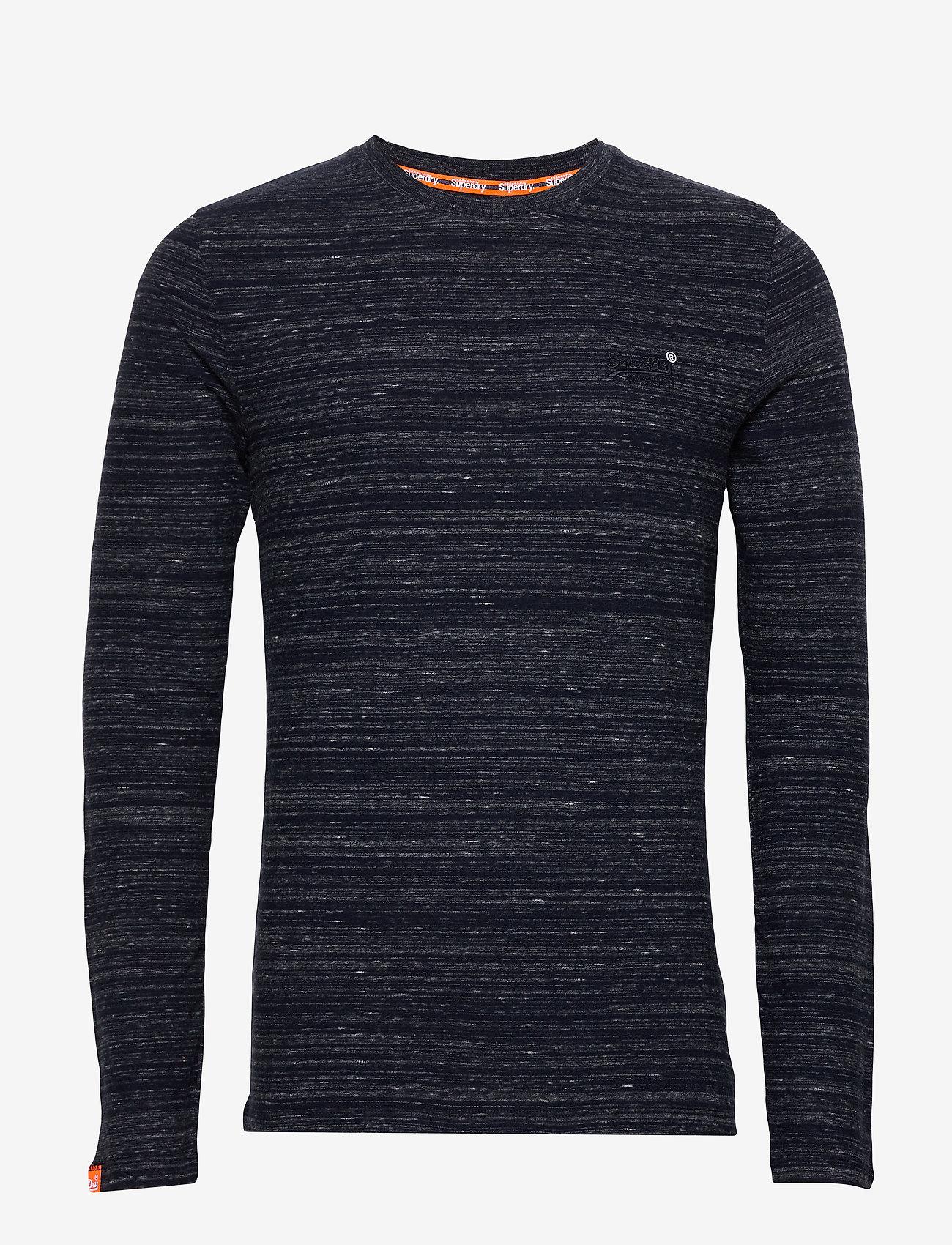 Superdry Ol Vintage Emb Ls Top - T-shirts MIDNIGHT NAVY SPACE DYE KbI4FiFw