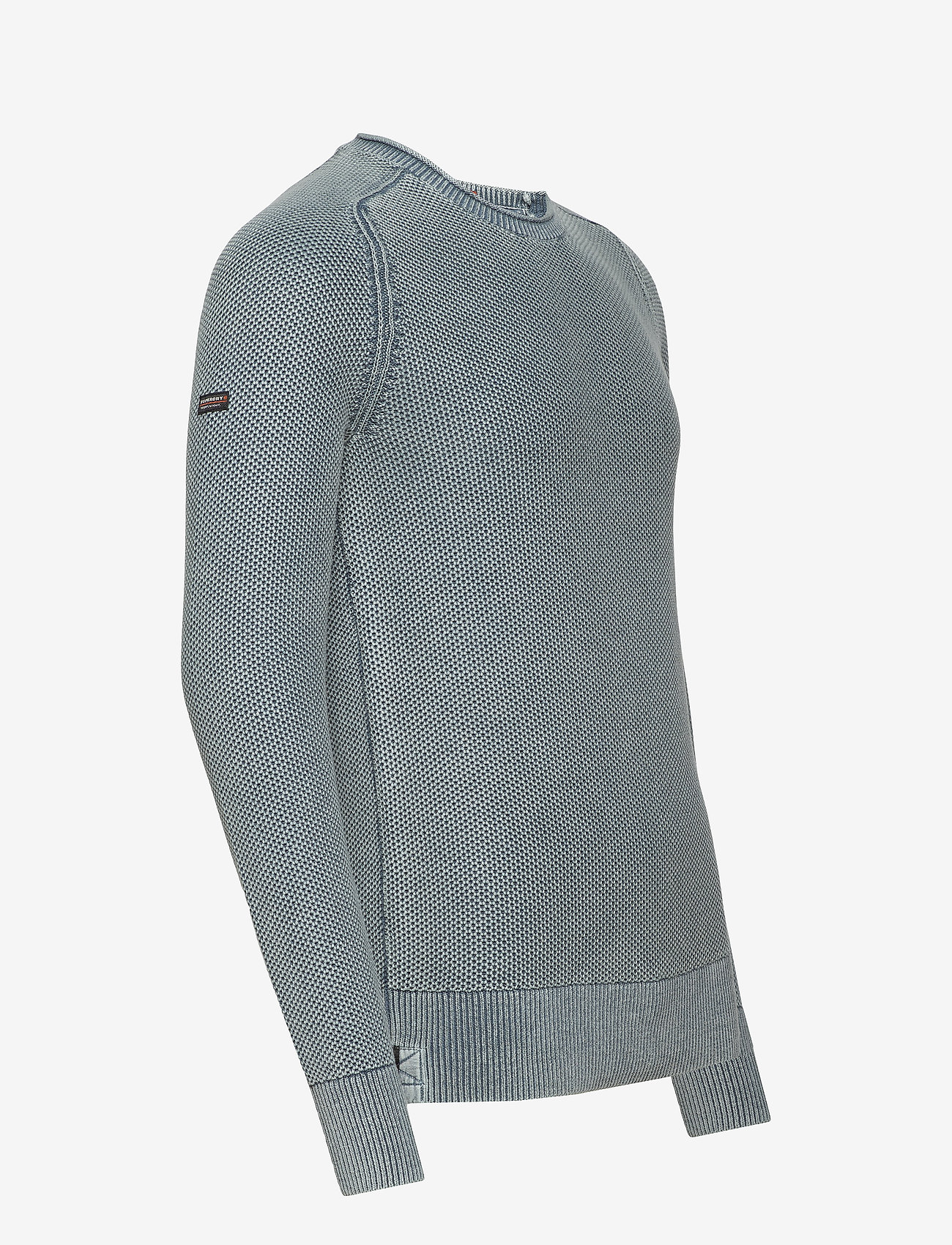 Superdry Garment Dye L.a.textured Crew - Stickat Washed Cloud Blue