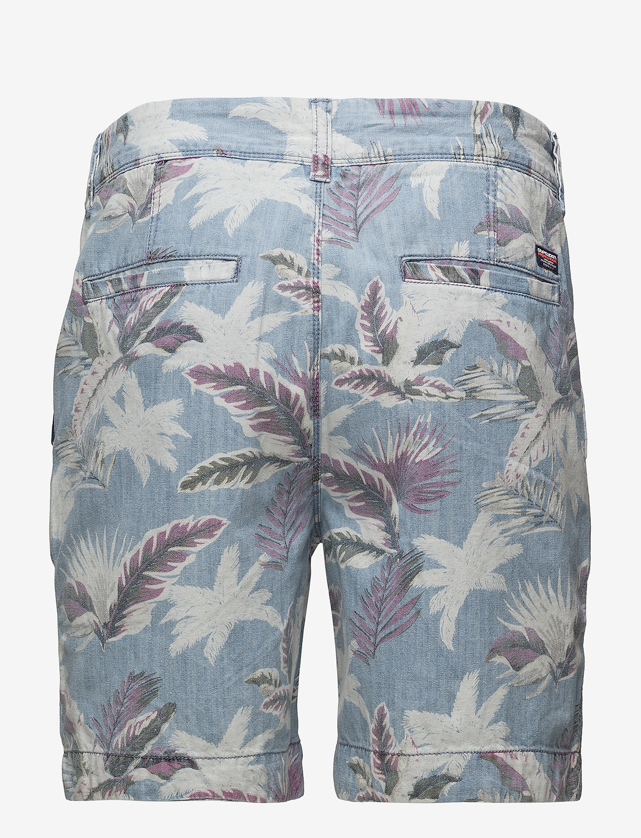 Superdry - NUE WAVE WASH SHORT - rennot - paradise chambray hibiscus - 1