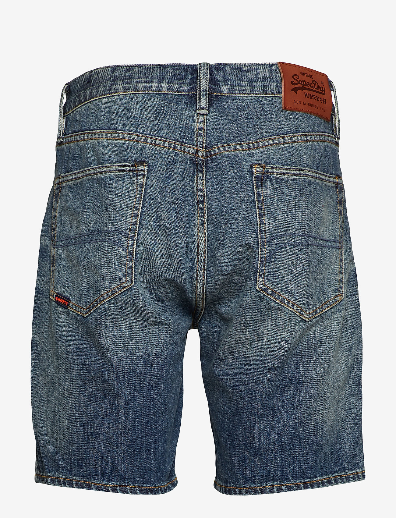 Superdry - CONOR TAPER SHORT - denim shorts - byrom mid vintage - 1