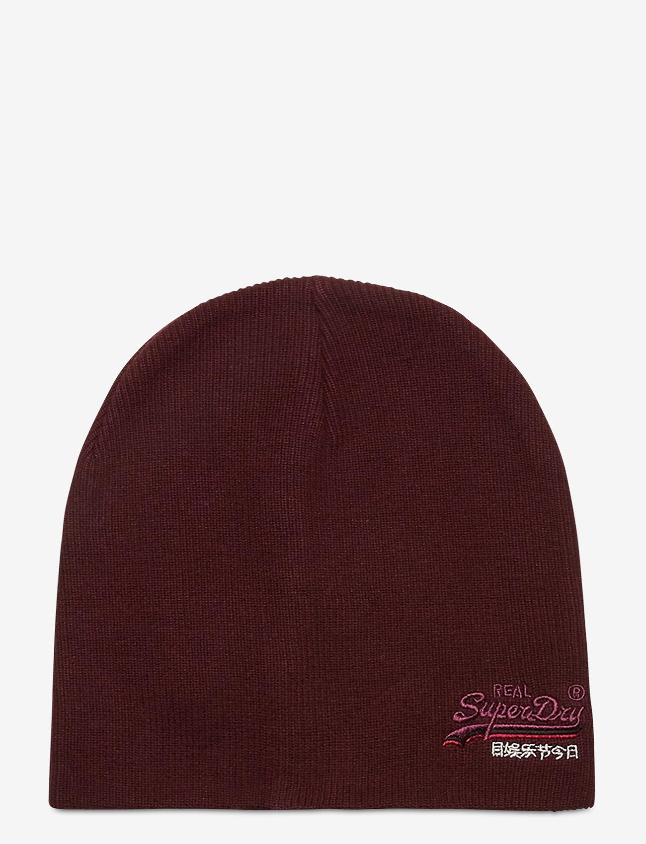 Superdry - ORANGE LABEL BEANIE - bonnet - buck burgundy marl - 0