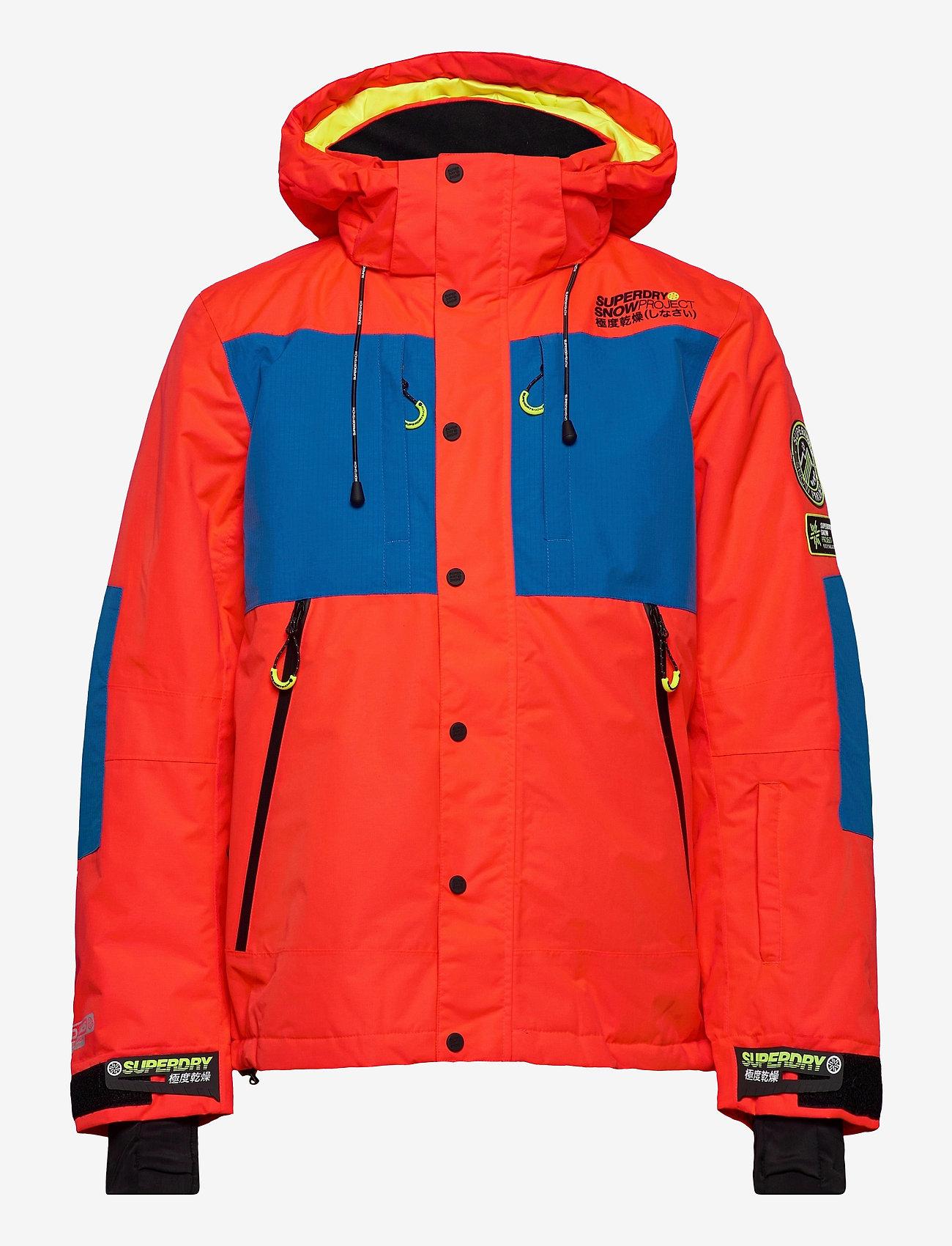 Superdry - SD MOUNTAIN JACKET - skijakker - volcanic orange/acid cobalt - 0