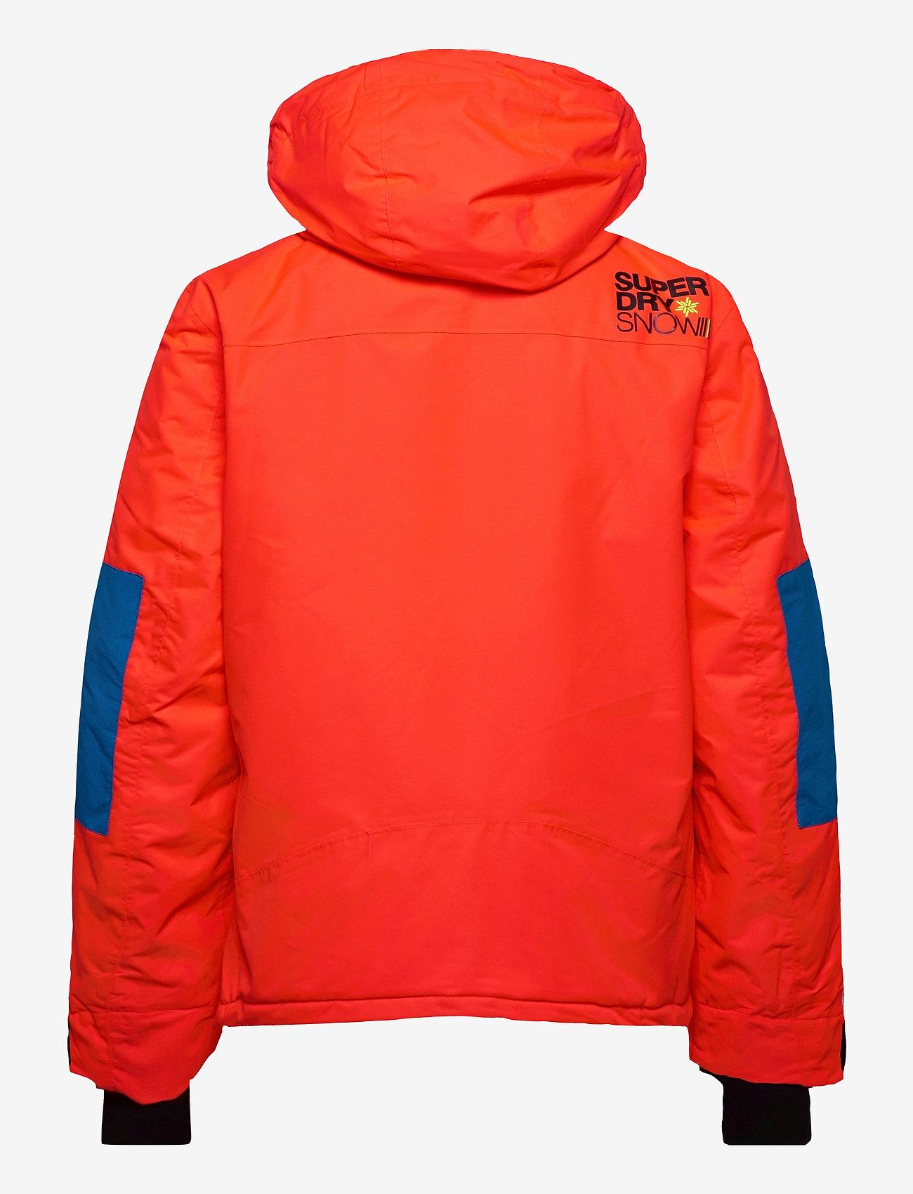 Superdry - SD MOUNTAIN JACKET - skijakker - volcanic orange/acid cobalt - 1