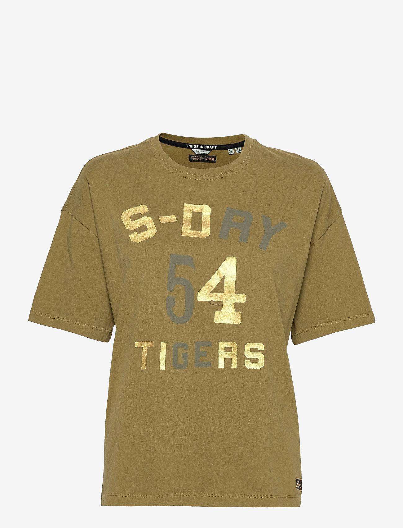 Superdry - MILITARY NARRATIVE BOXY TEE - t-shirts - shrubbery - 0
