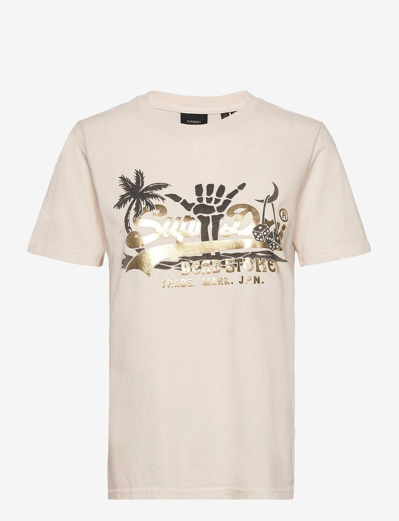 Superdry - VL ITAGO TEE - t-shirts - cream quartz - 0