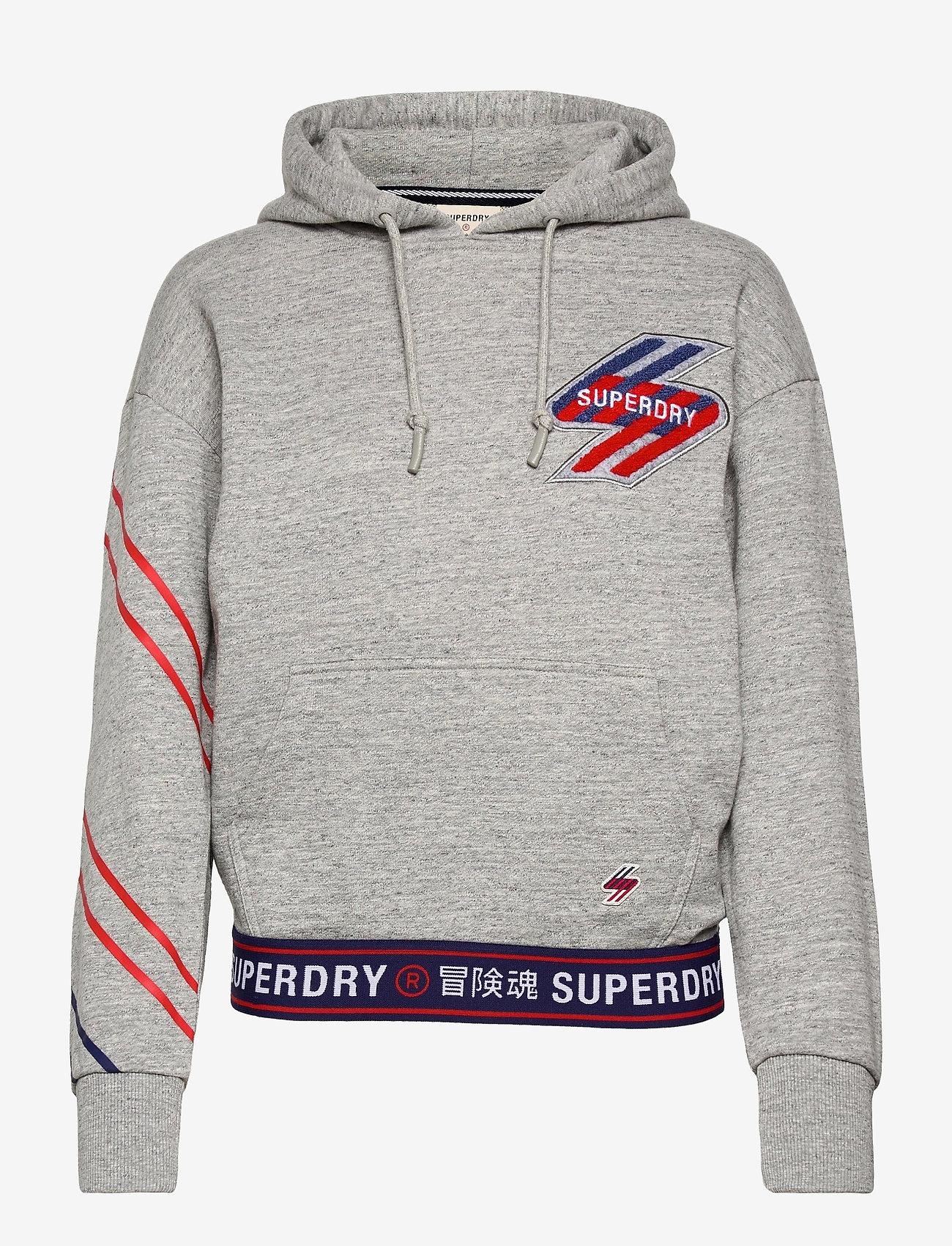 Superdry - SPORTSTYLE GRAPHIC HOOD - hættetrøjer - grey slub grindle - 0