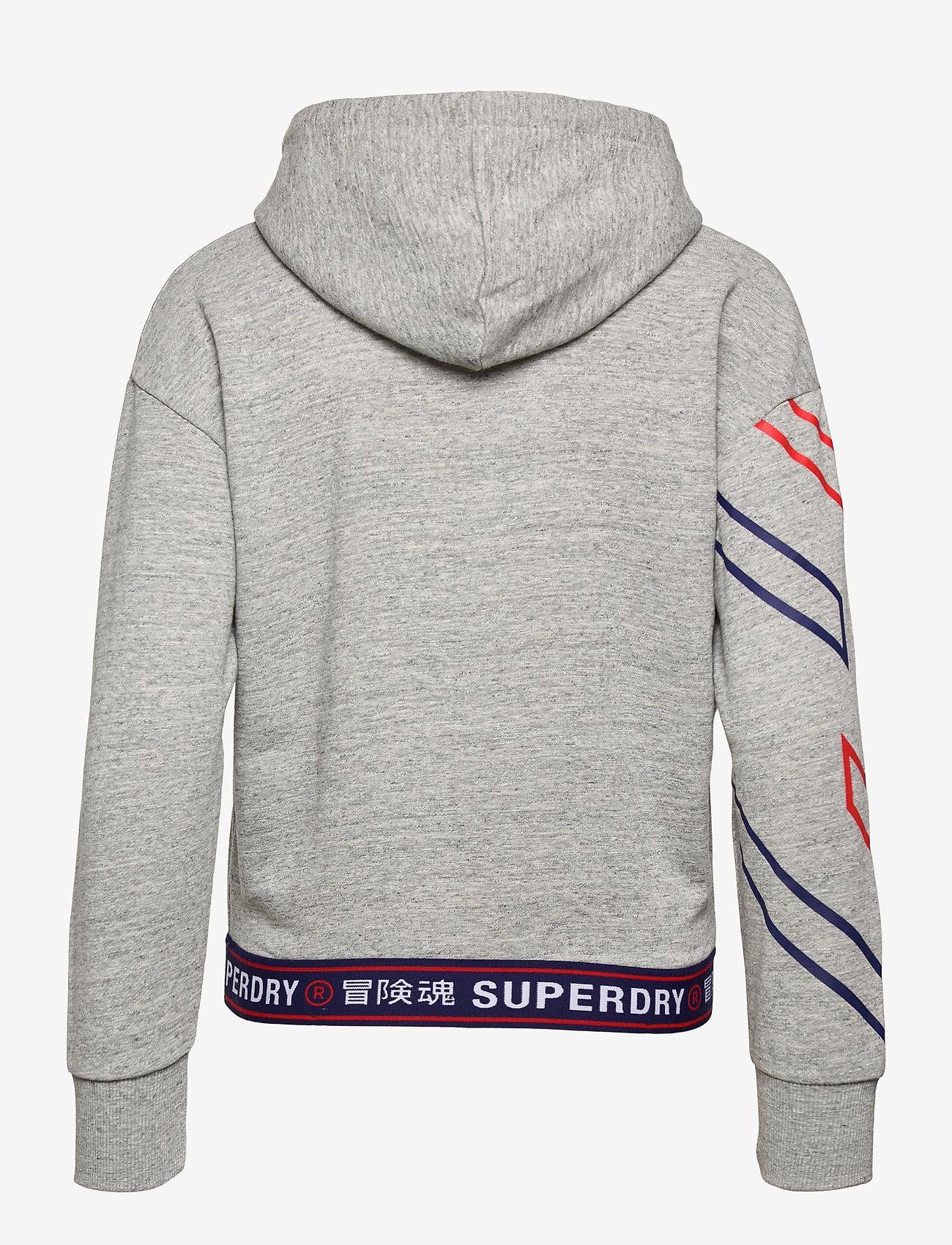 Superdry - SPORTSTYLE GRAPHIC HOOD - hættetrøjer - grey slub grindle - 1