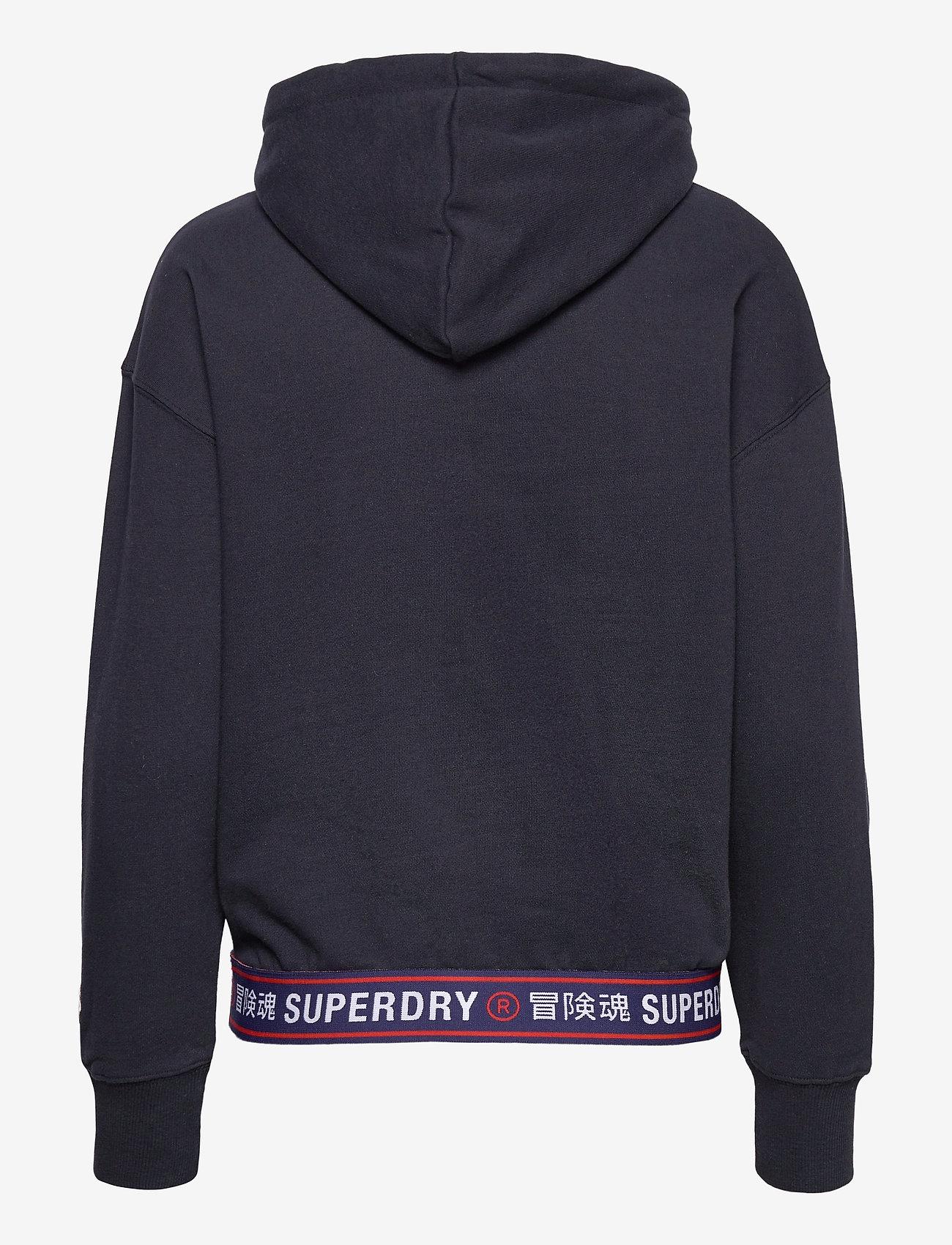 Superdry - SPORTSTYLE CHENILLE HOOD - hoodies - deep navy - 1