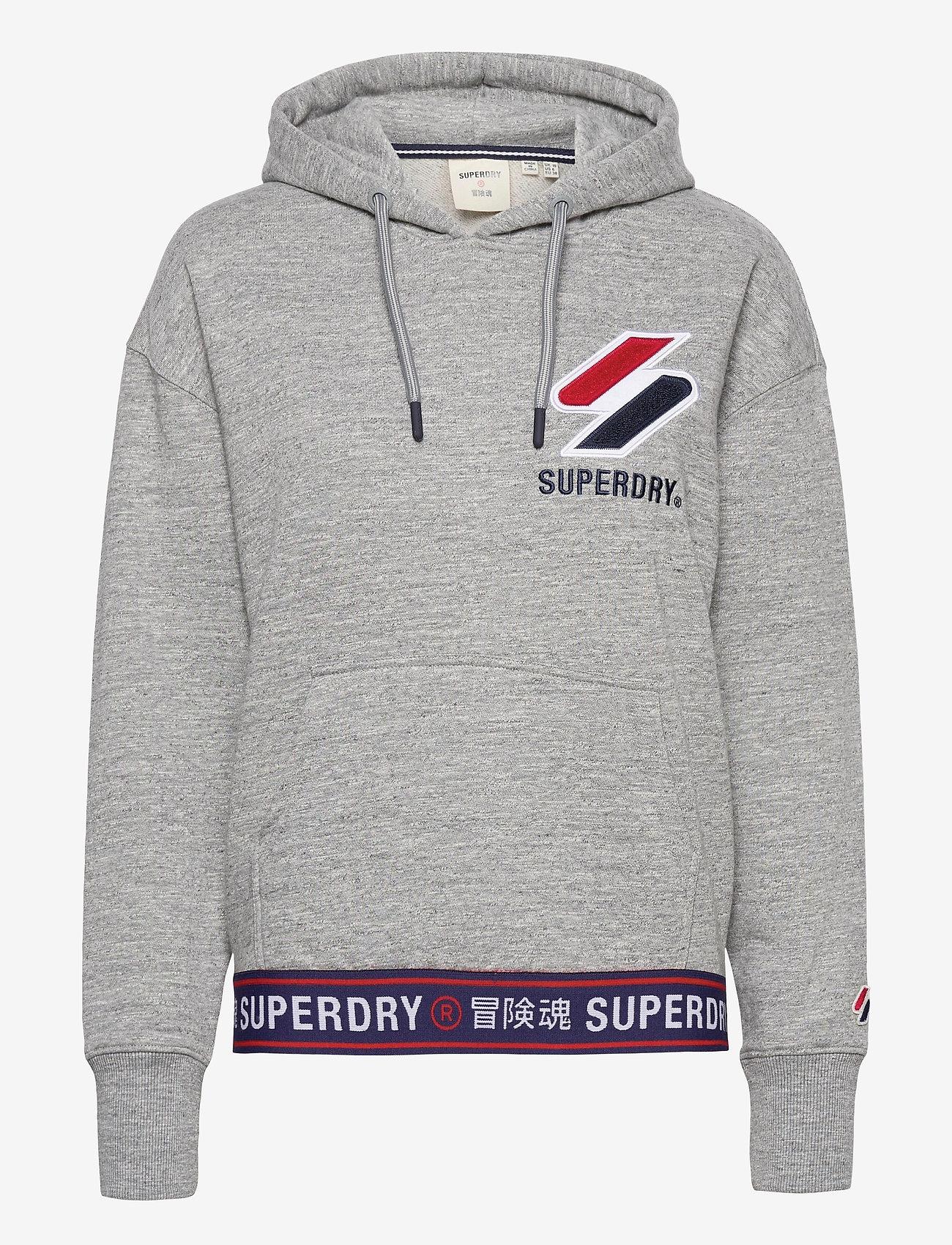 Superdry - SPORTSTYLE CHENILLE HOOD - hoodies - grey slub grindle - 0