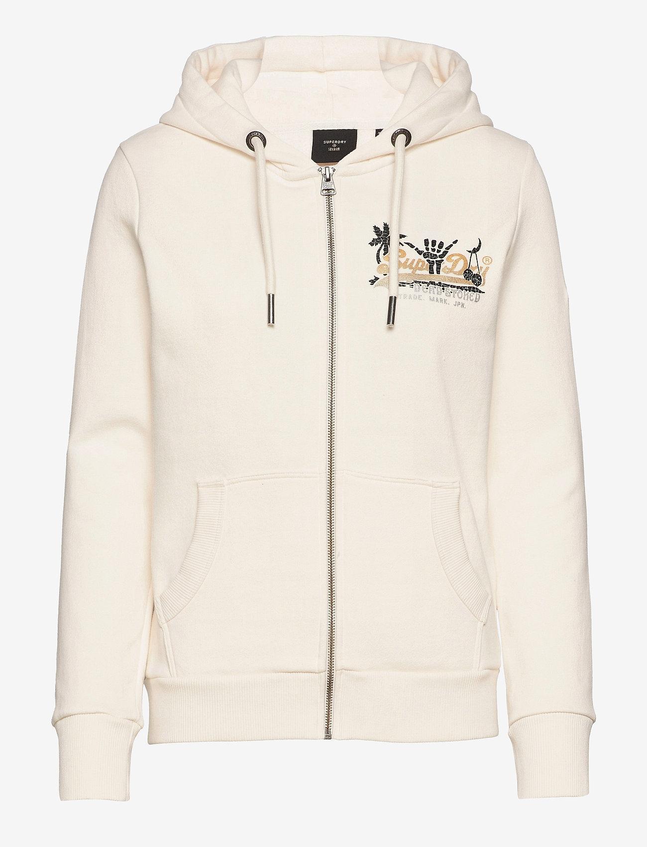 Superdry - VL ITAGO ZIP HOOD - hoodies - cream quartz - 0