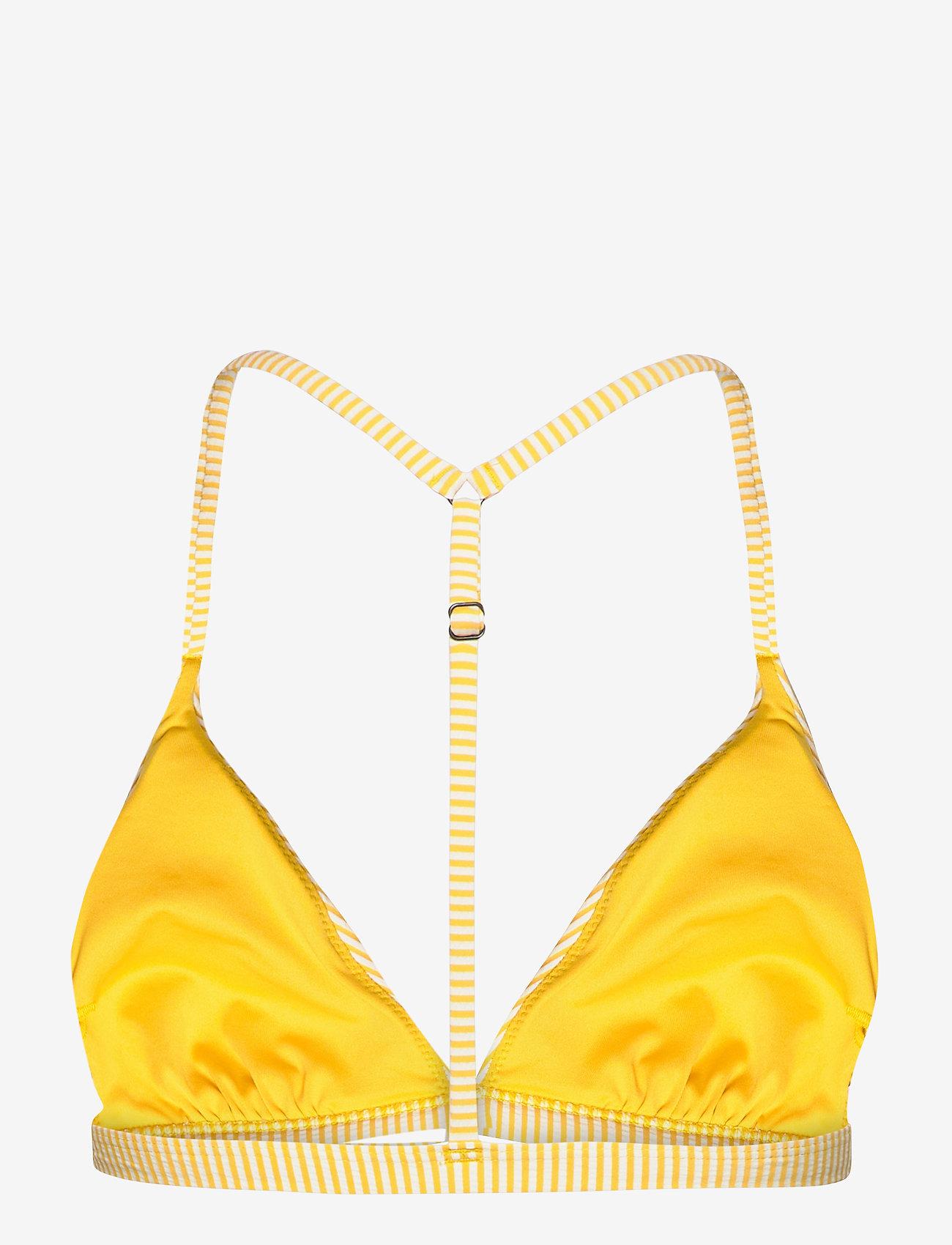 Superdry - T BACK FIXED TRI BIKINI TOP - bikini tops - pigment yellow - 1