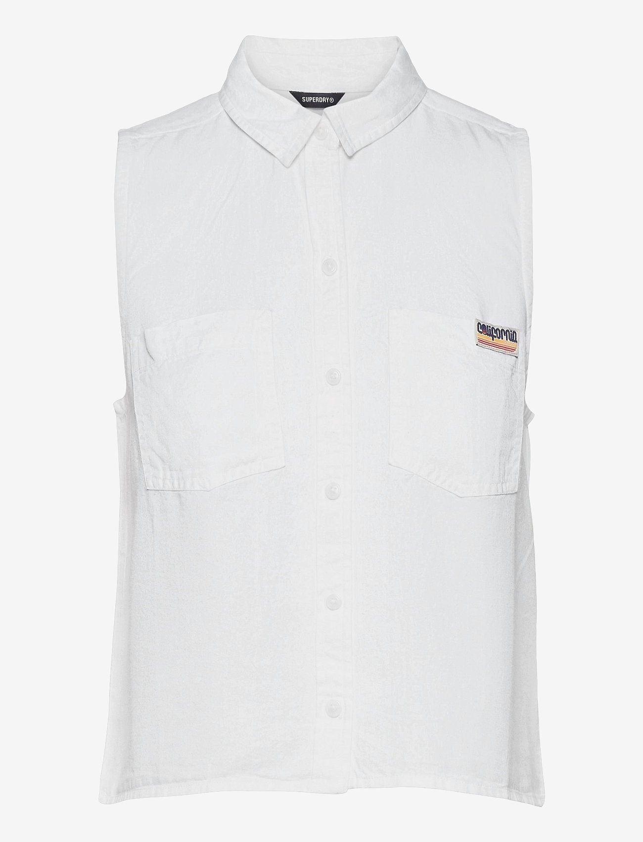 Superdry - SLEEVELESS SHIRT - sleeveless blouses - white - 0