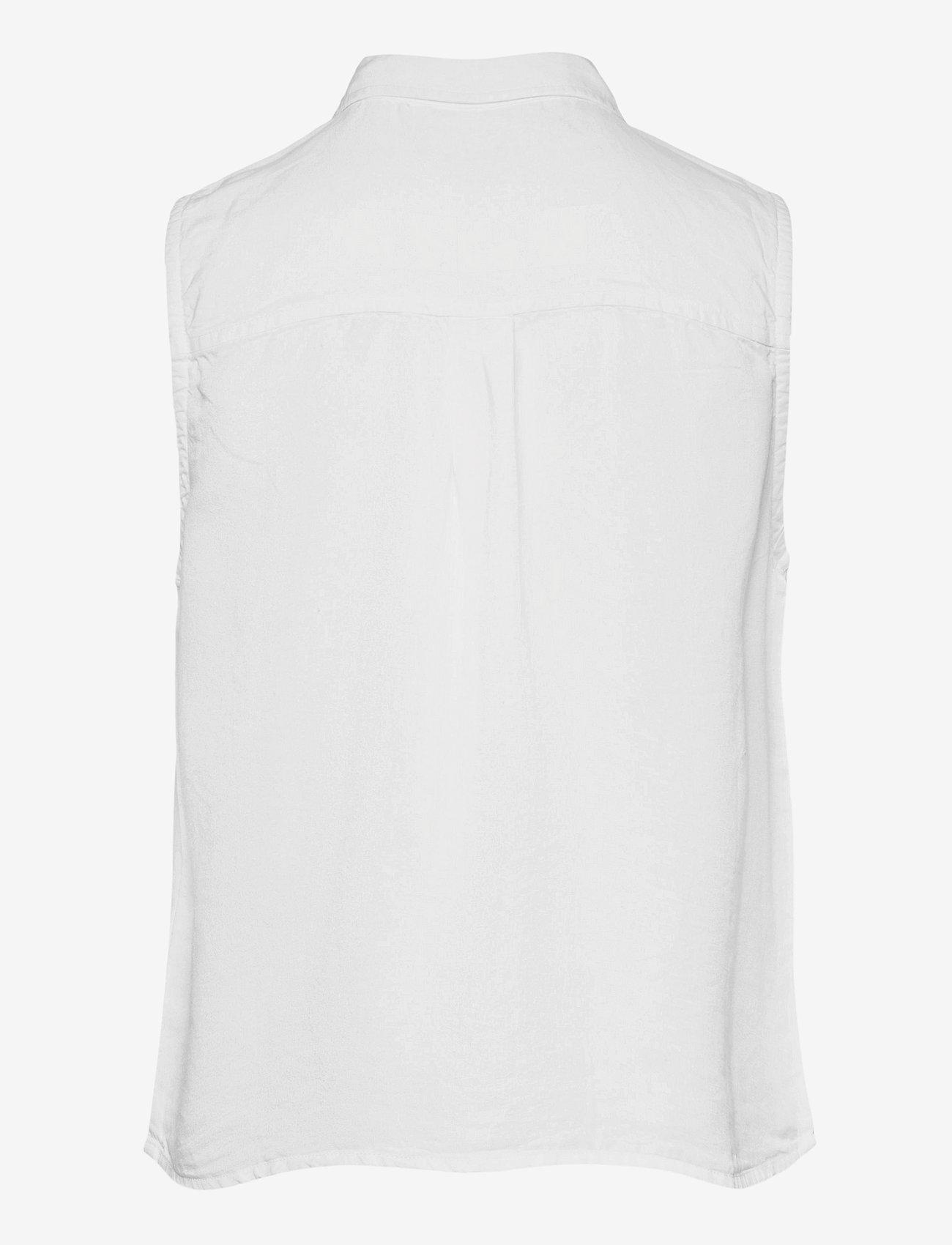 Superdry - SLEEVELESS SHIRT - sleeveless blouses - white - 1