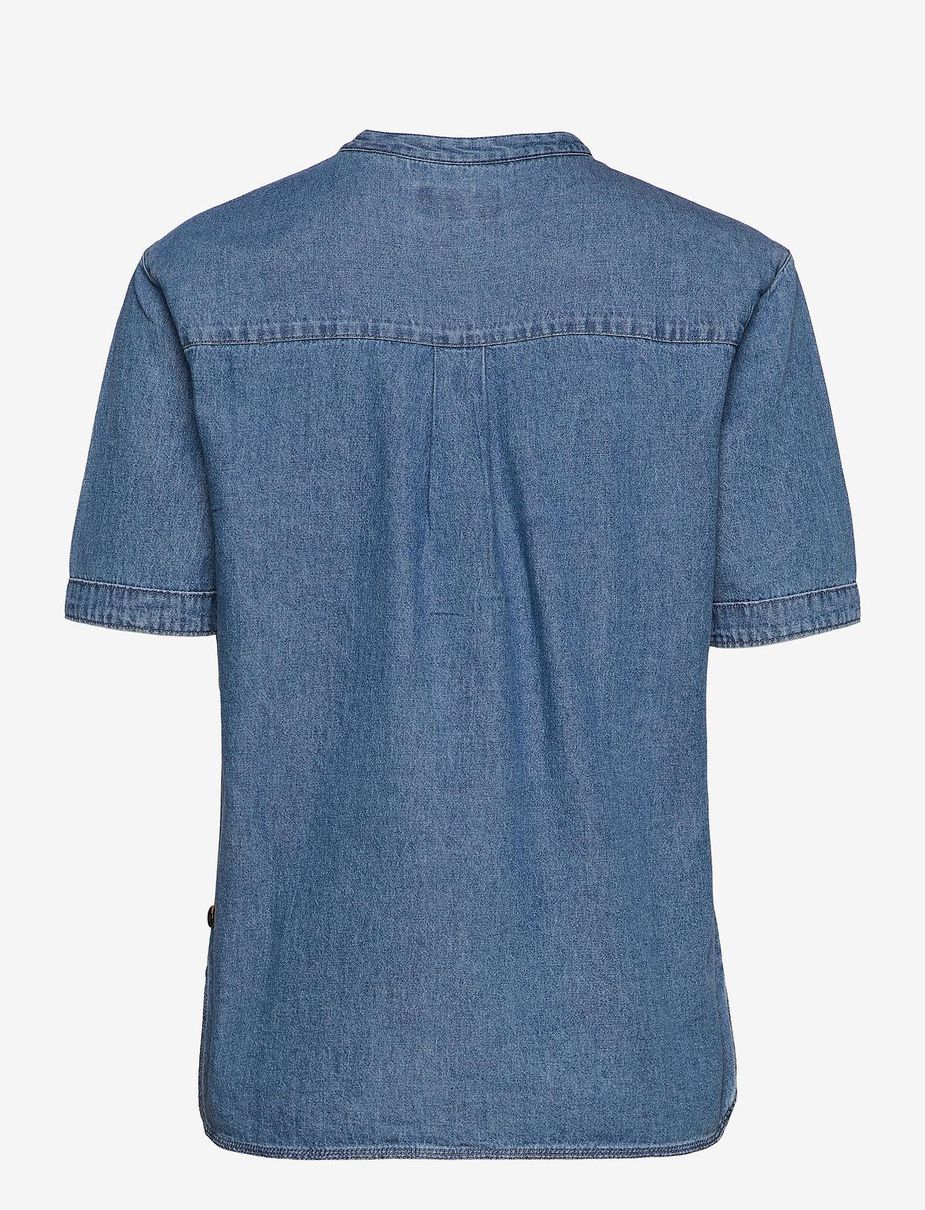 Superdry - GRANDAD BLOUSE - short-sleeved blouses - chambray - 1
