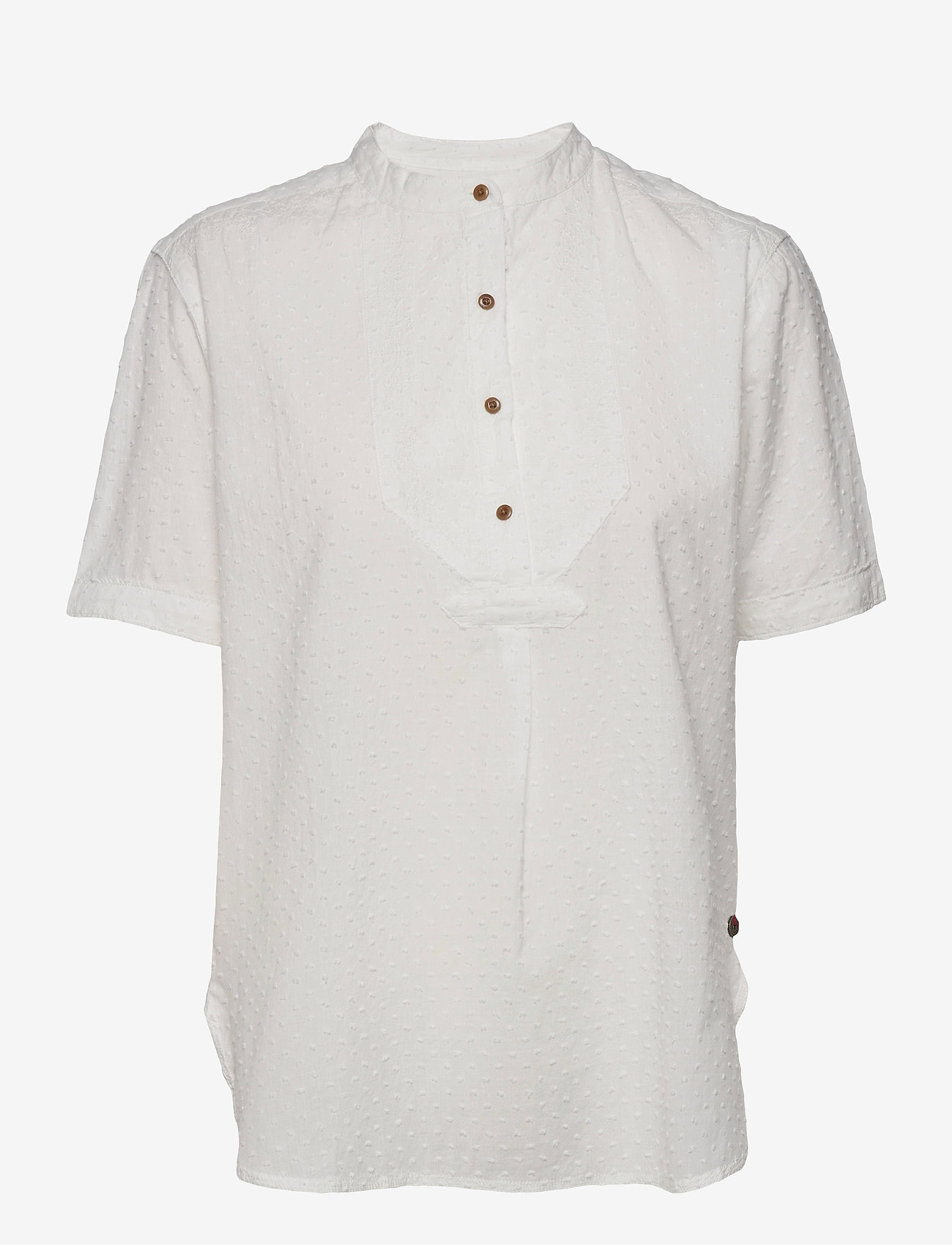 Superdry - GRANDAD BLOUSE - short-sleeved blouses - off white - 0