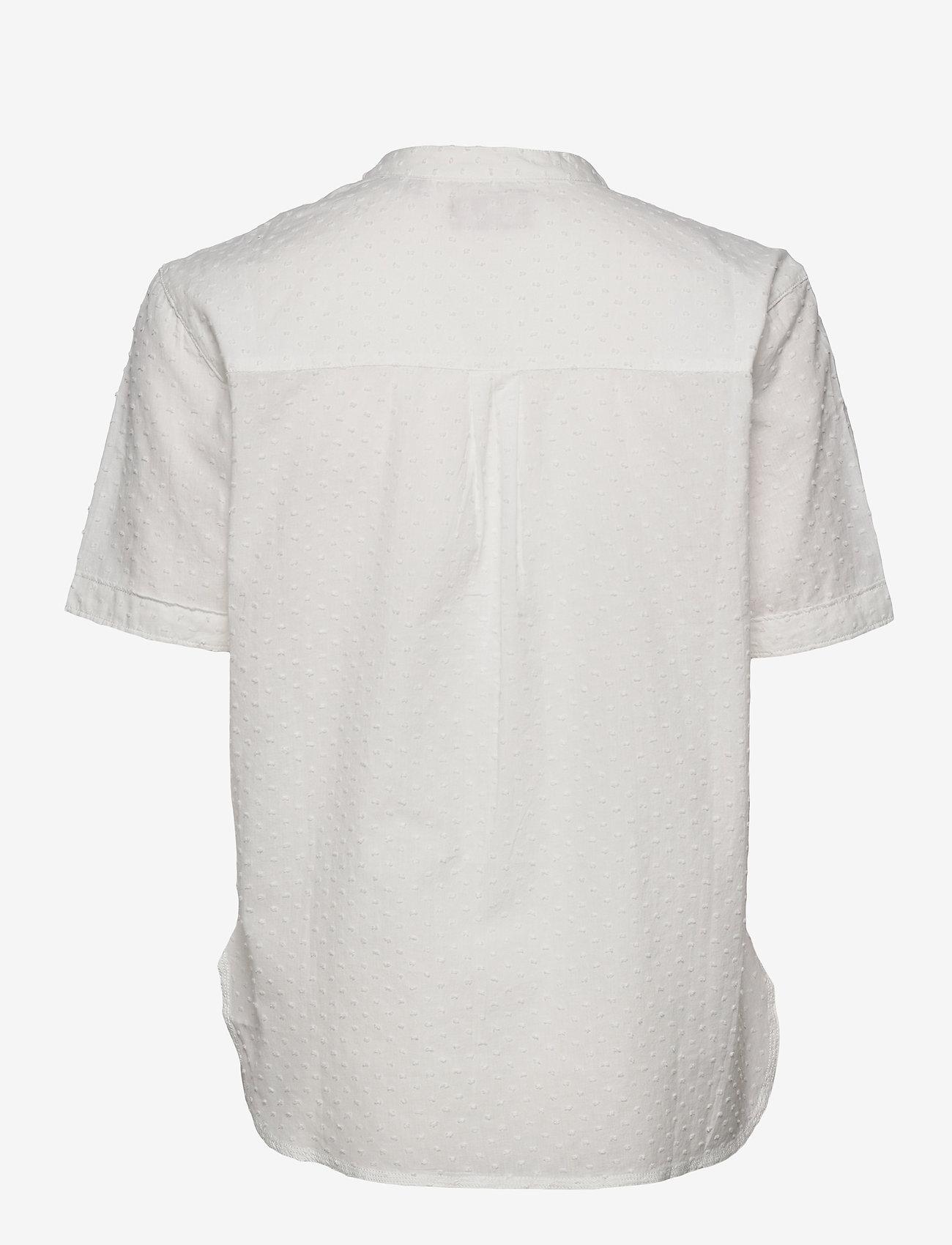 Superdry - GRANDAD BLOUSE - short-sleeved blouses - off white - 1