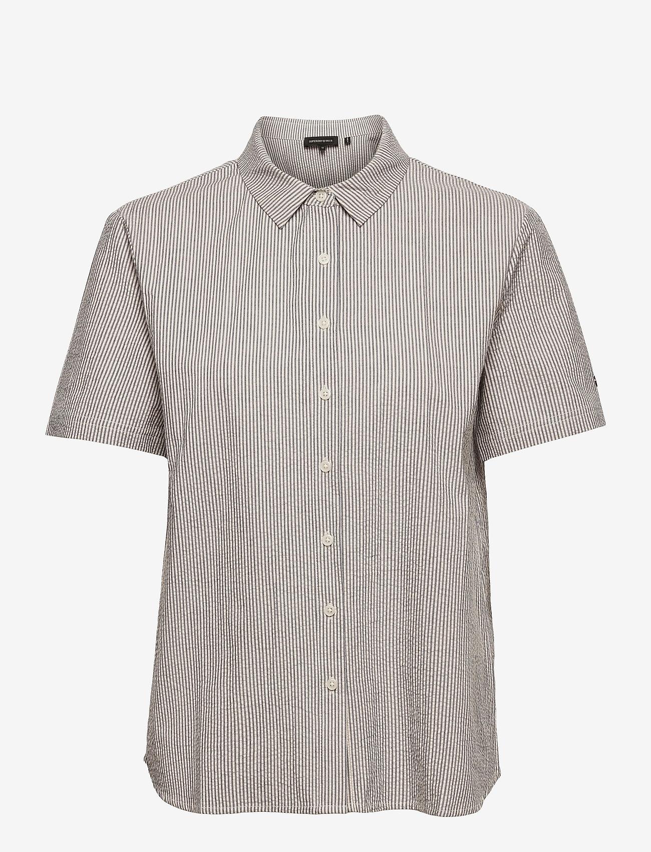 Superdry - STUDIOS SS SHIRT - short-sleeved shirts - navy stripe - 0
