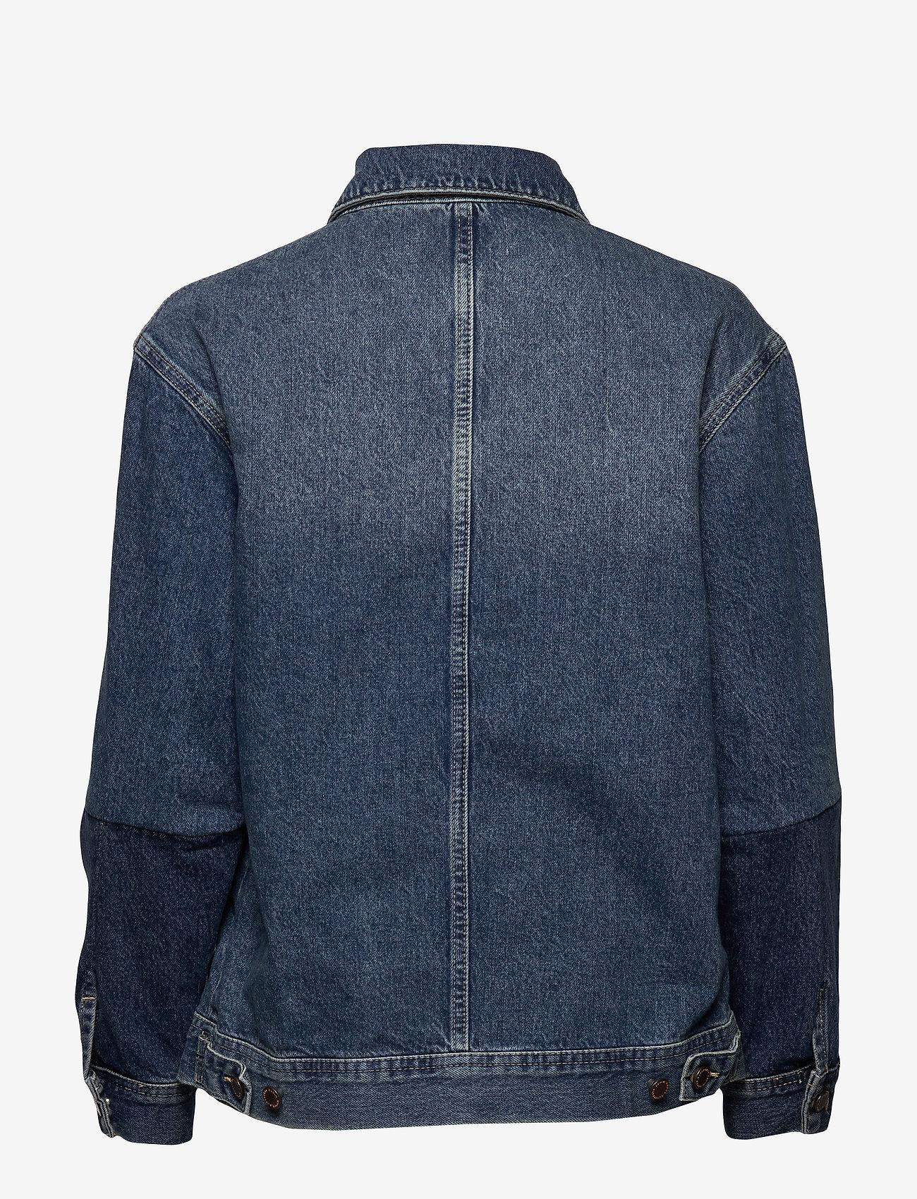 Superdry - WORKER JACKET - denim jackets - denim indigo dark mid - 1