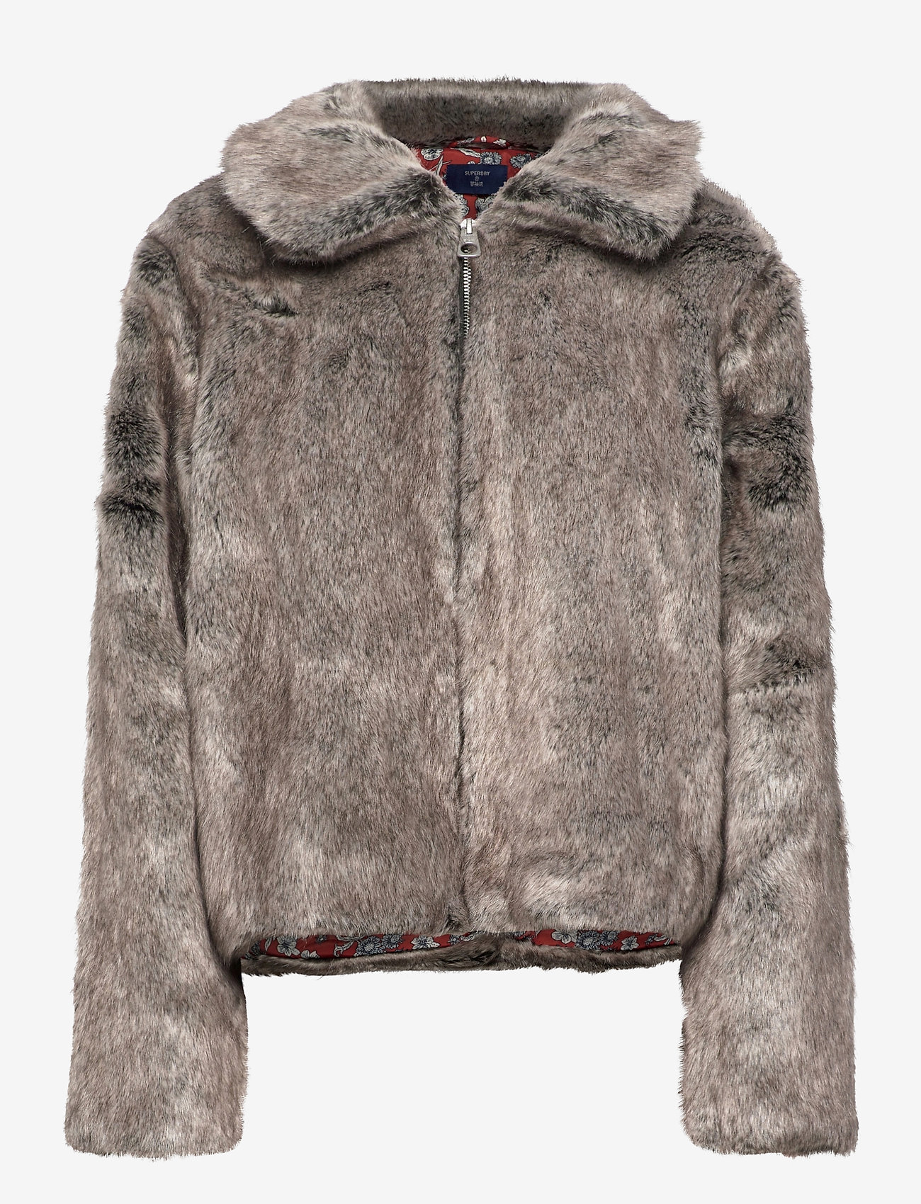 Superdry - Boho Faux Fur Jacket - faux fur - mink - 1