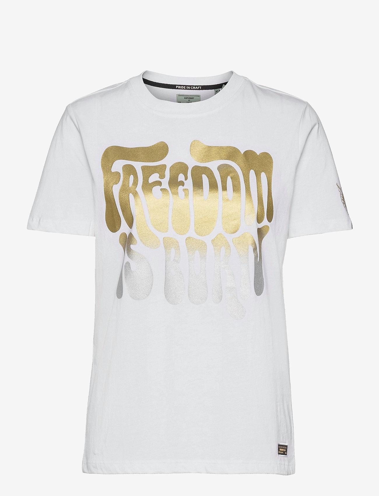 Superdry - MILITARY NARRATIVE TEE - t-shirts - brilliant white - 0