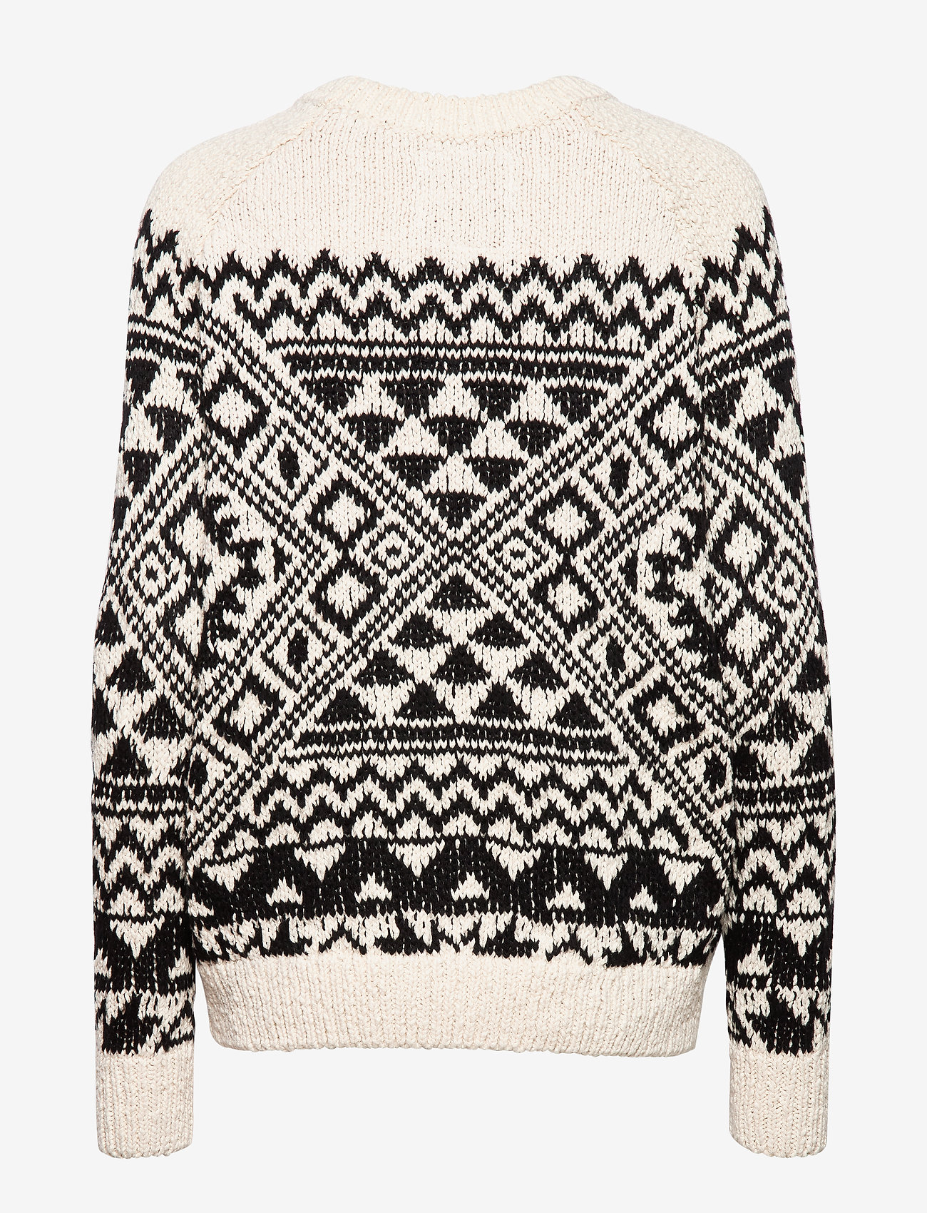 Superdry Rodeo West Textred Intarsia Knit - Stickat Black Print