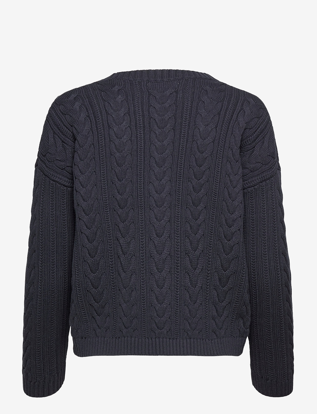 Superdry - DROPPED SHOULDER CABLE CREW - jumpers - eclipse navy - 1