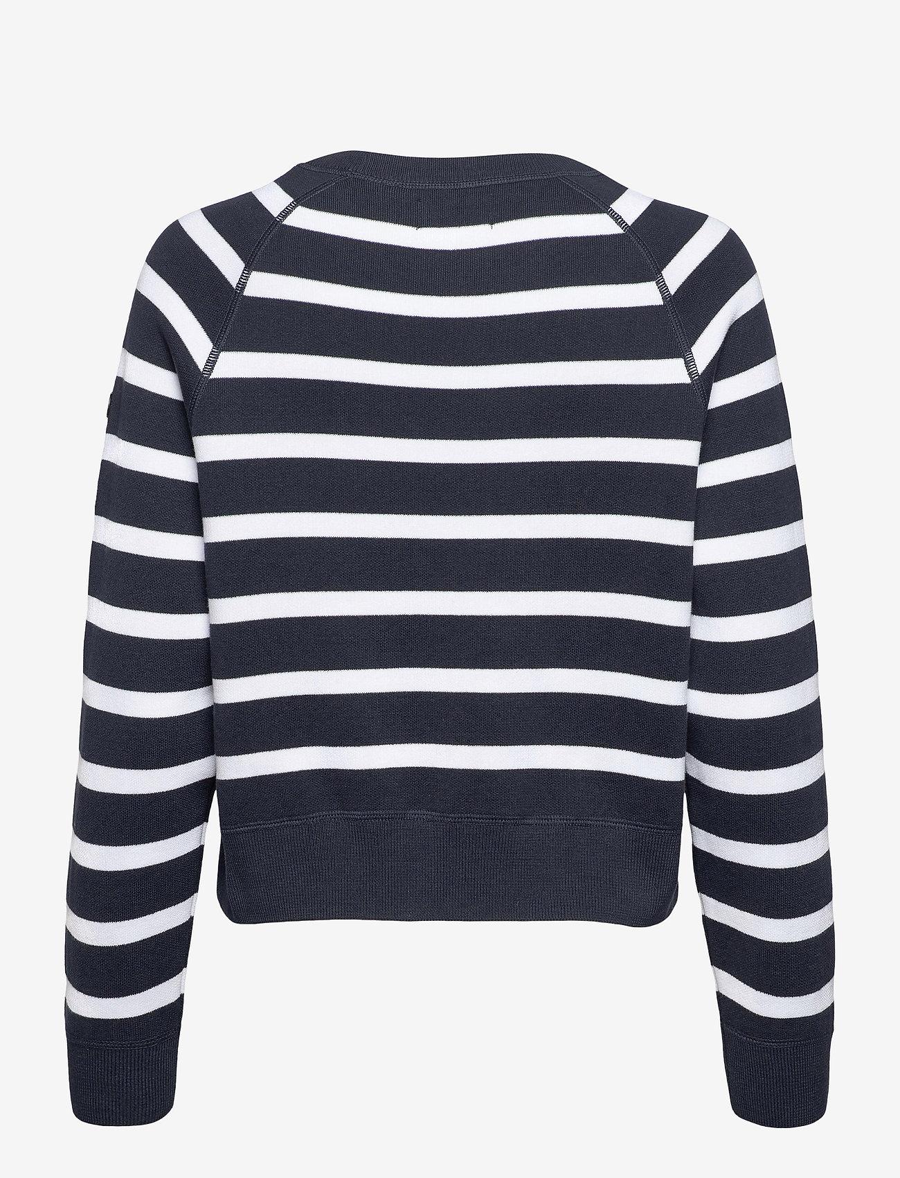 Superdry - ESSENTIAL COTTON CREW - sweaters - eclipse navy stripe - 1