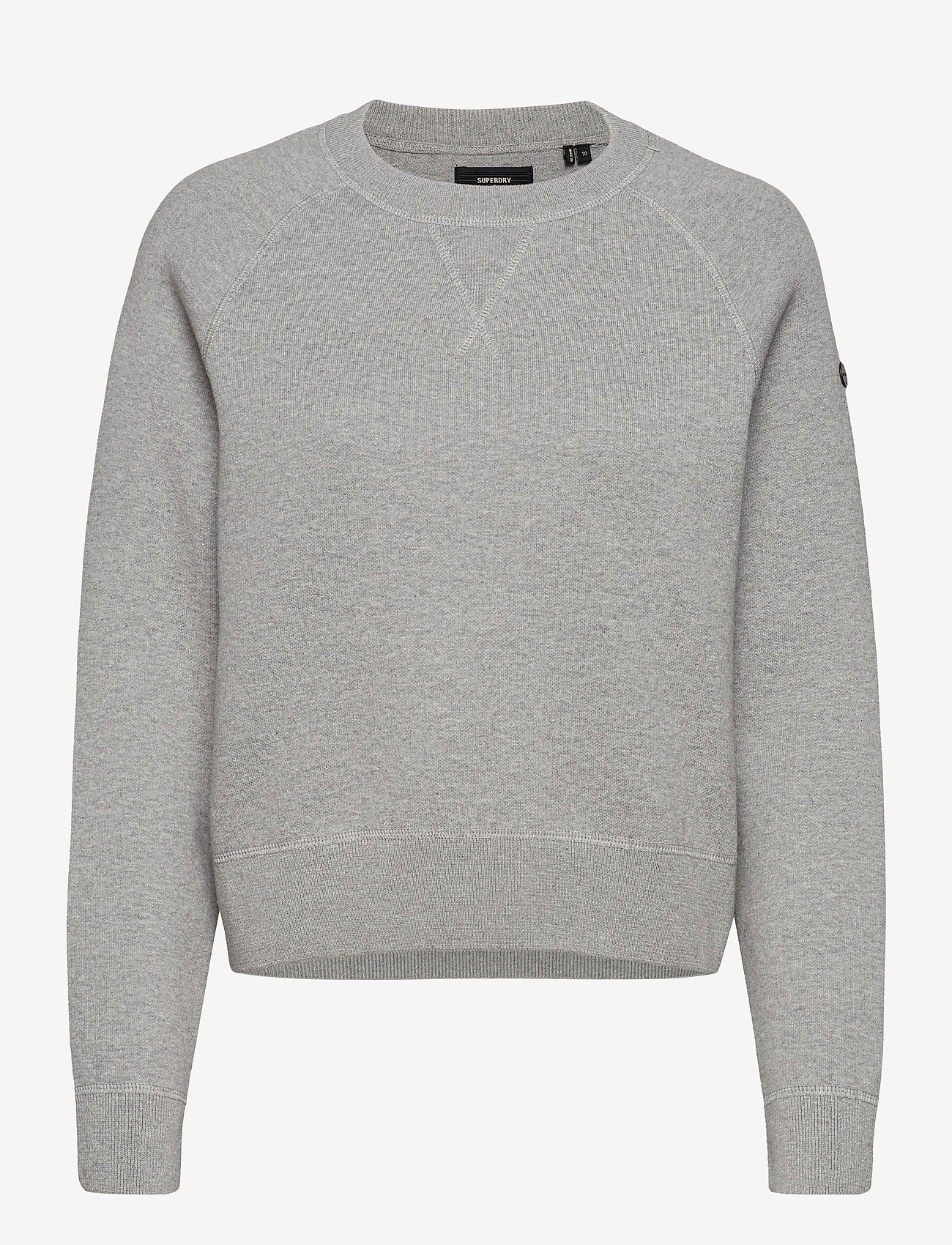 Superdry - ESSENTIAL COTTON CREW - sweaters - mid marl - 0