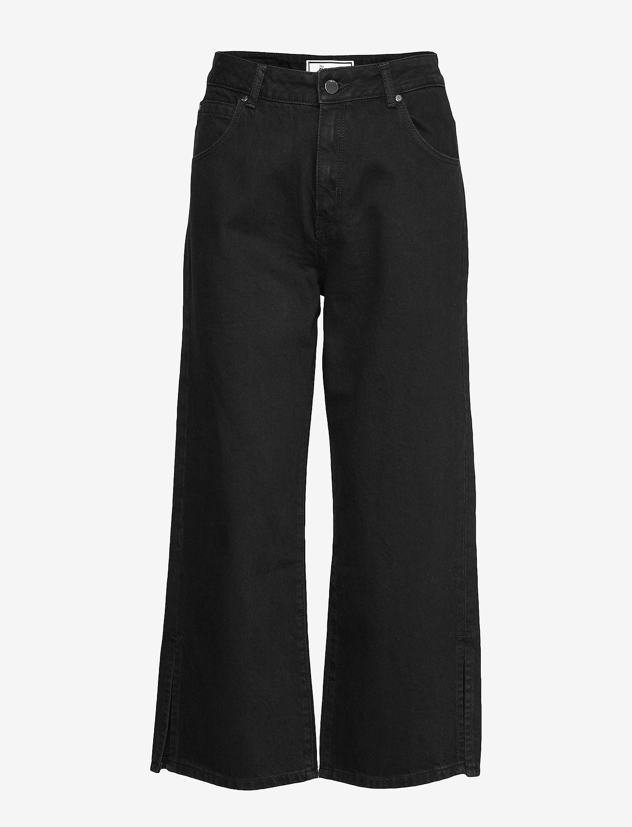 Superdry - EDIT WIDE LEG JEAN - broeken met wijde pijpen - denim black rinse - 0