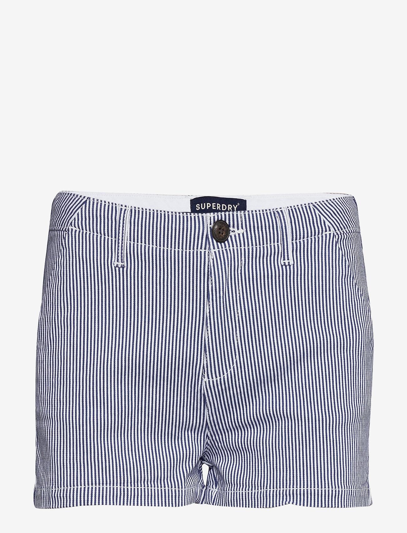 Superdry - CHINO HOT SHORT - casual shortsit - navy stripe - 0