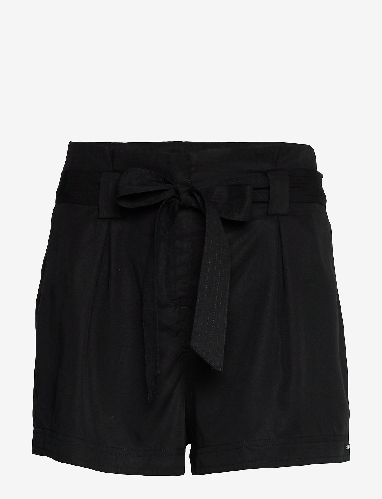 Superdry - DESERT PAPER BAG SHORT - casual shortsit - black - 0