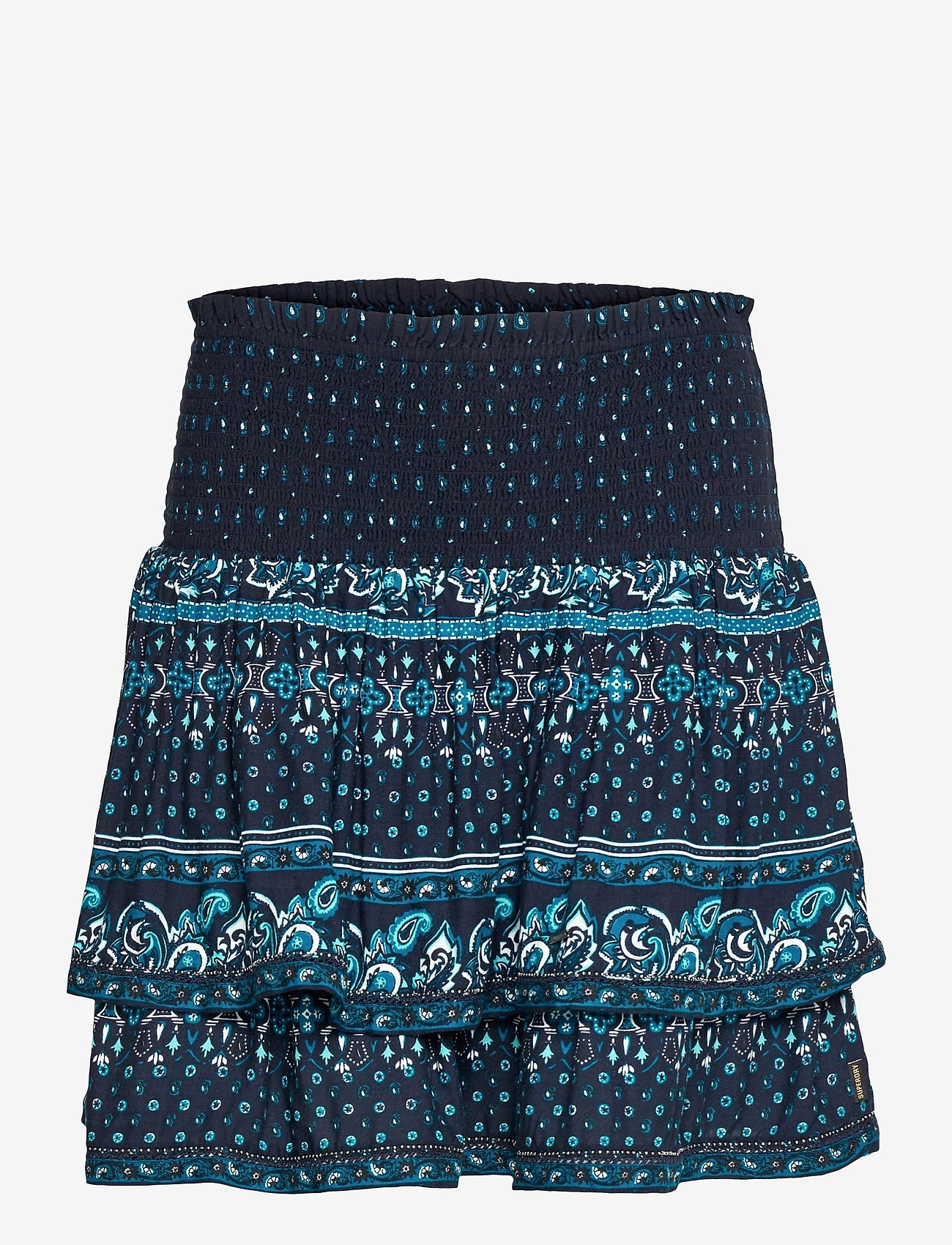 Superdry - AMEERA MINI SMOCKED SKIRT - short skirts - navy - 0