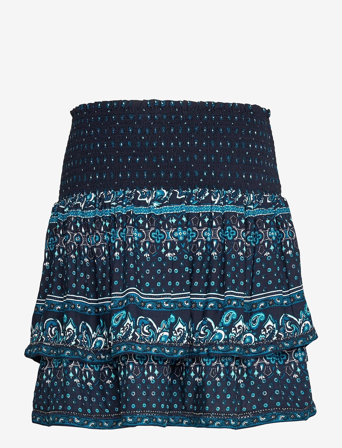 Superdry - AMEERA MINI SMOCKED SKIRT - short skirts - navy - 1