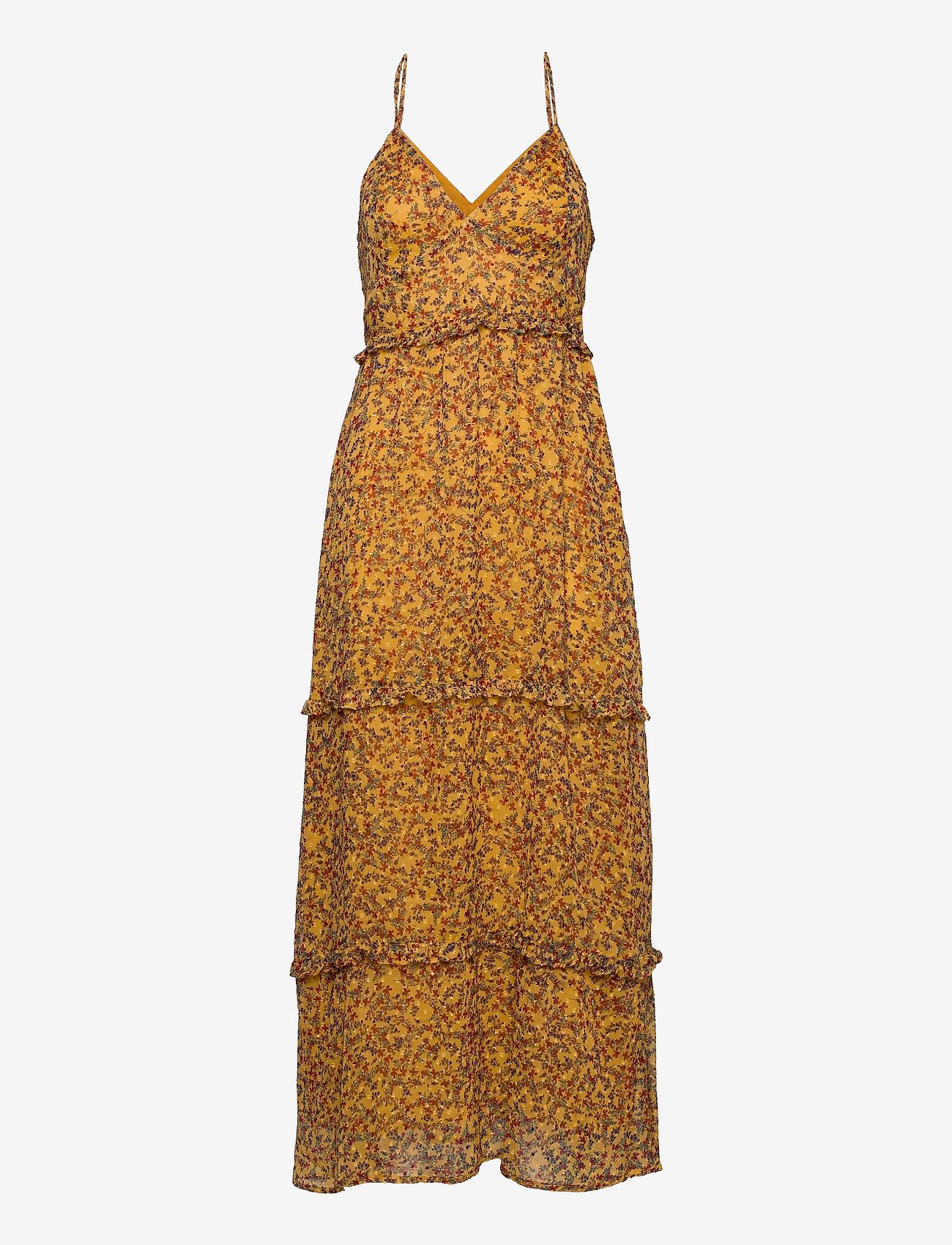 Superdry - MARGAUX MAXI DRESS - kveldskjoler - autumn ditsy gold - 0